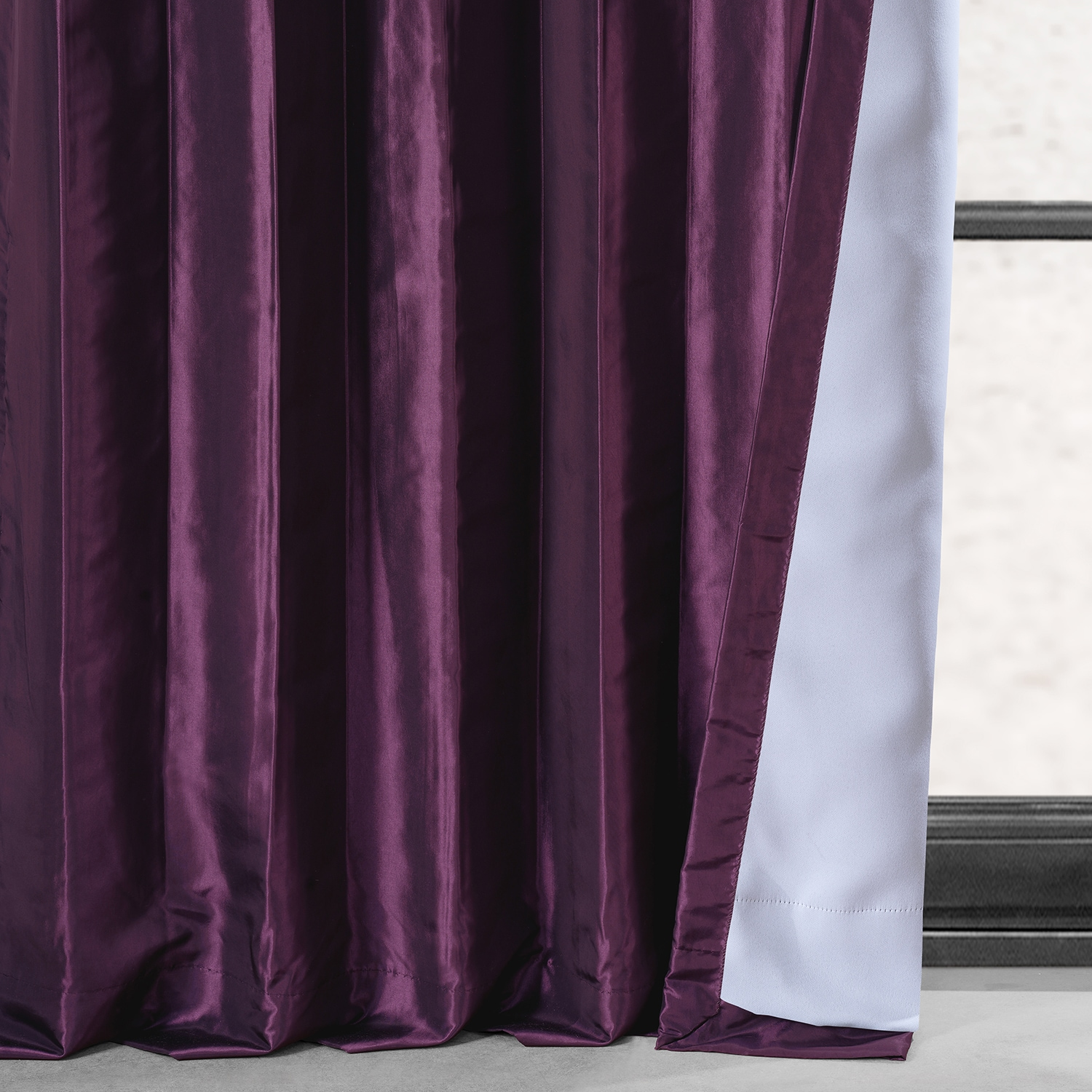 Royal Port Blackout Faux Silk Taffeta Curtain