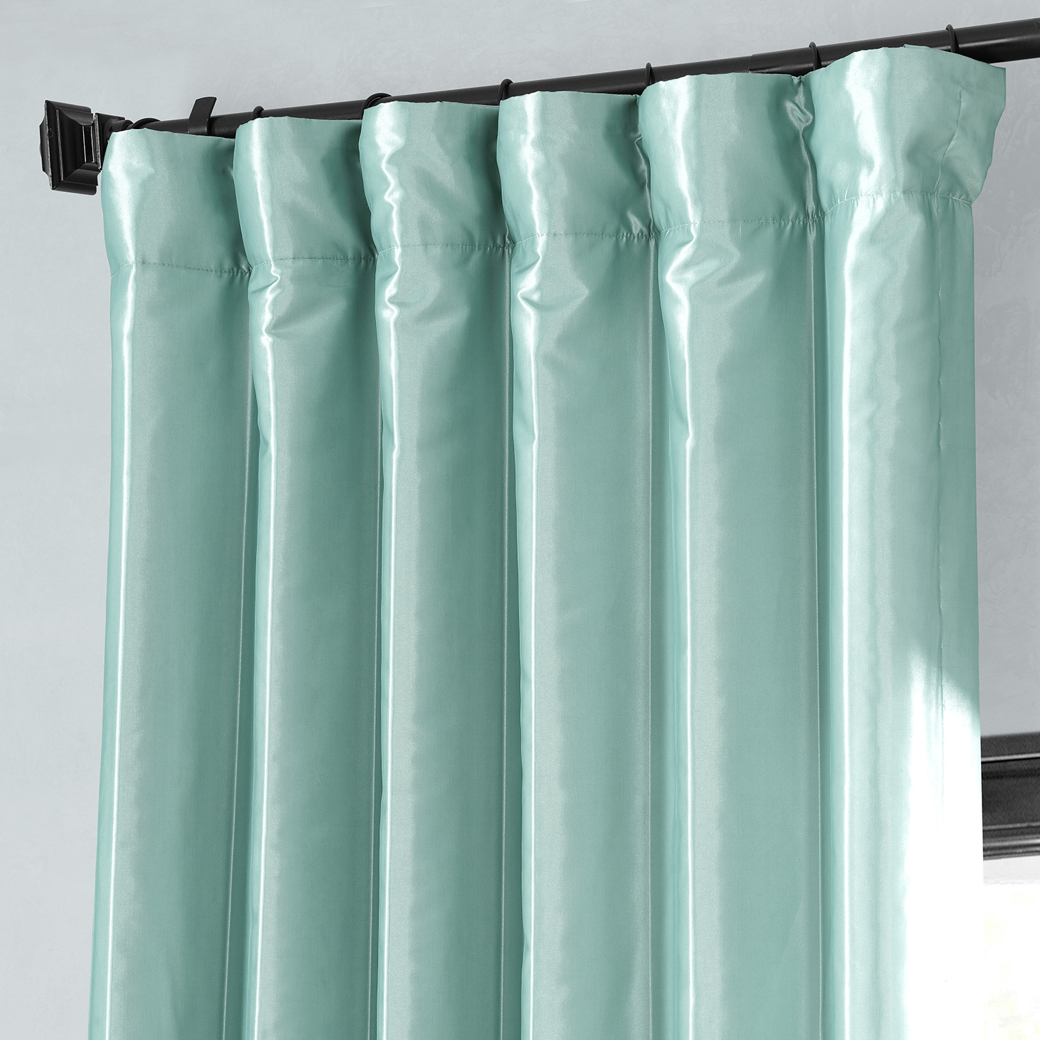 faux silk curtains robin s egg blackout faux silk taffeta curtains drapes 10803