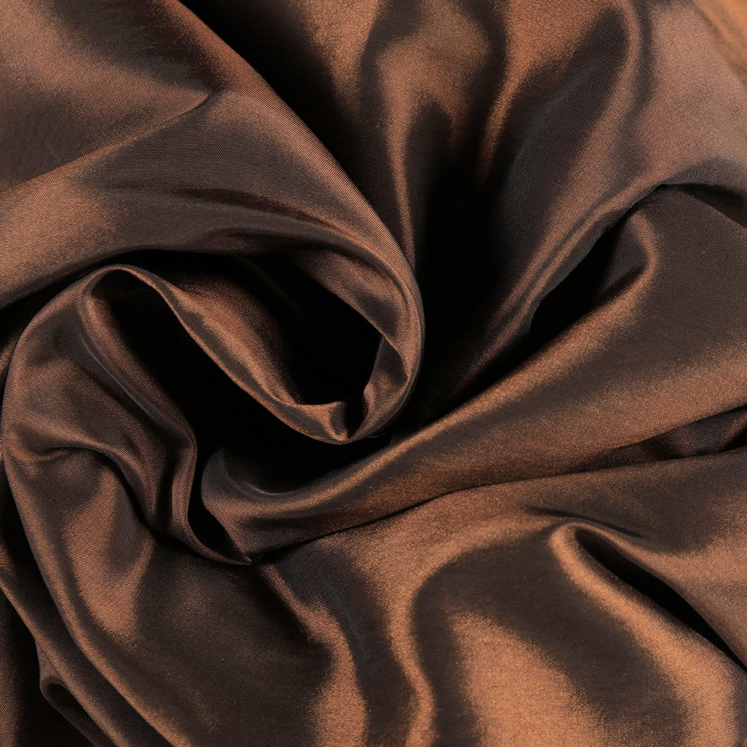 Rum Raisin Faux Silk Taffeta Swatch