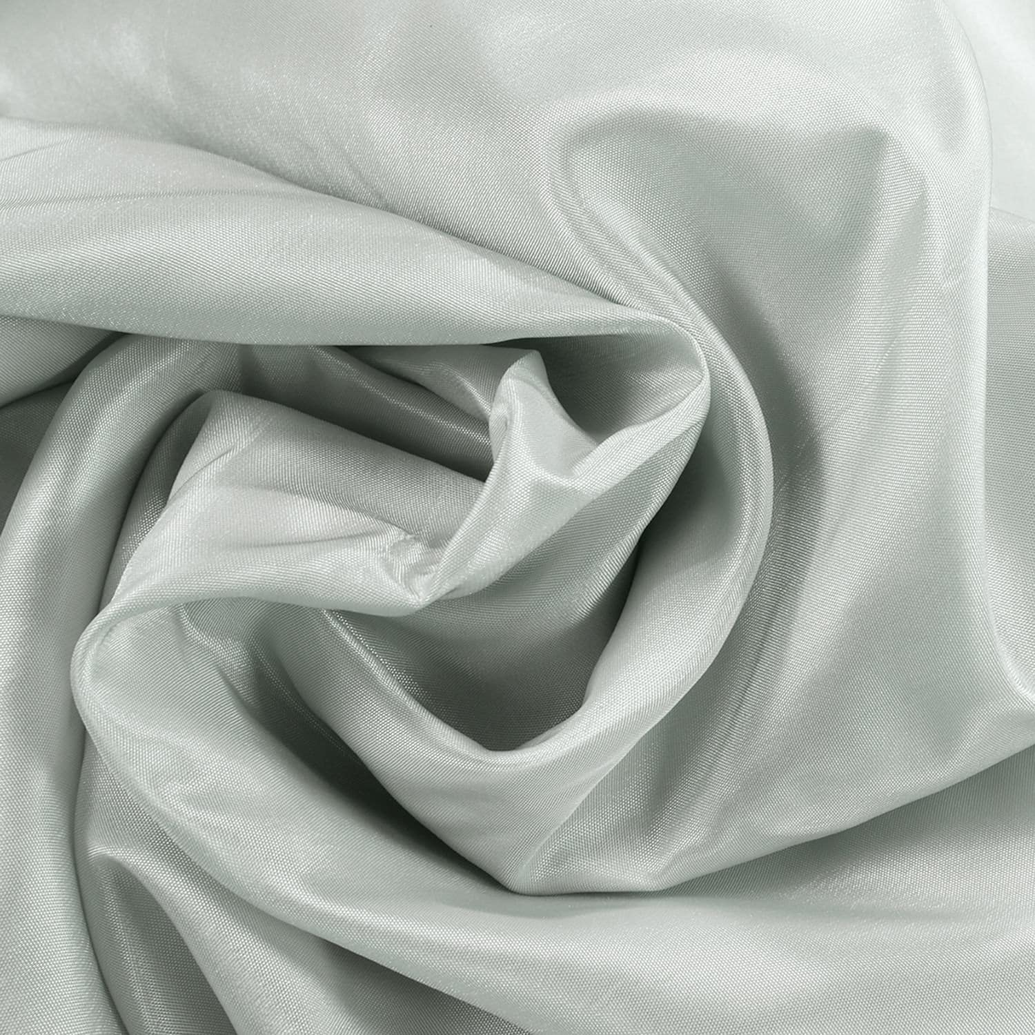 Pearl Grey Faux Silk Taffeta Swatch
