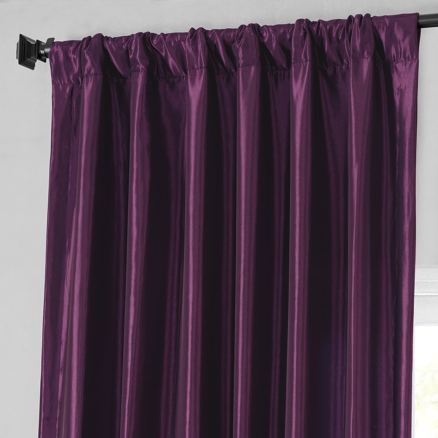Royal Port Faux Silk Taffeta Curtain