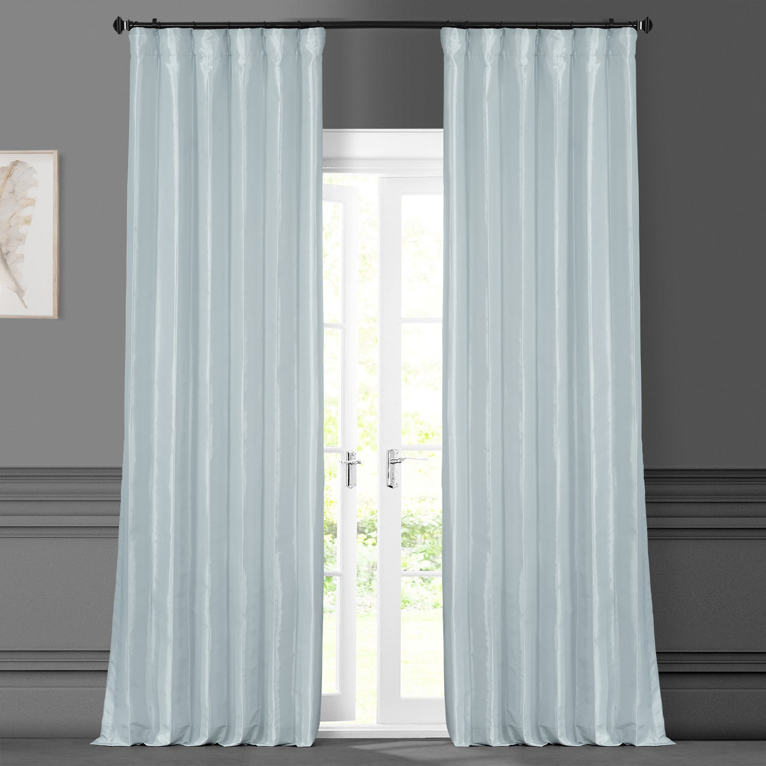 Blue Moon Faux Silk Taffeta Curtain