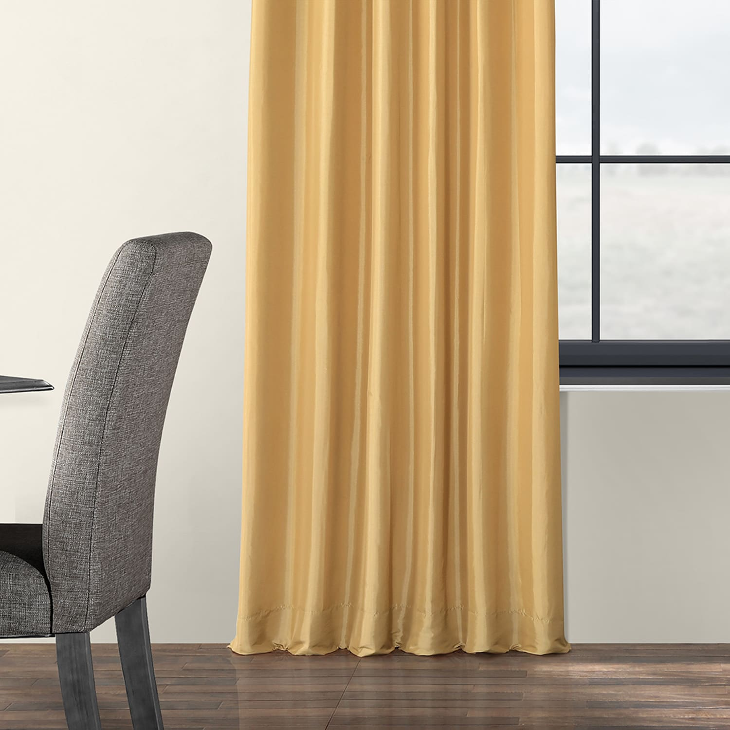 faux silk curtains buy honey faux silk taffeta curtains drapes 10803