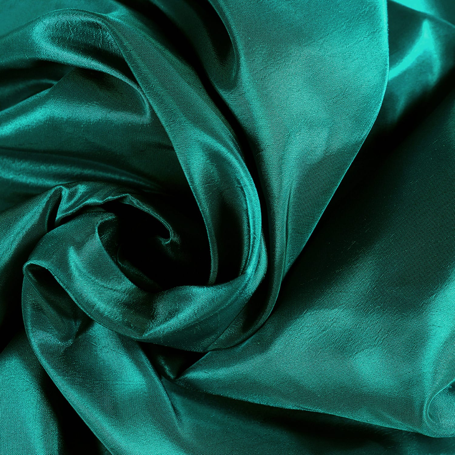 Largo Teal Faux Silk Taffeta Curtain