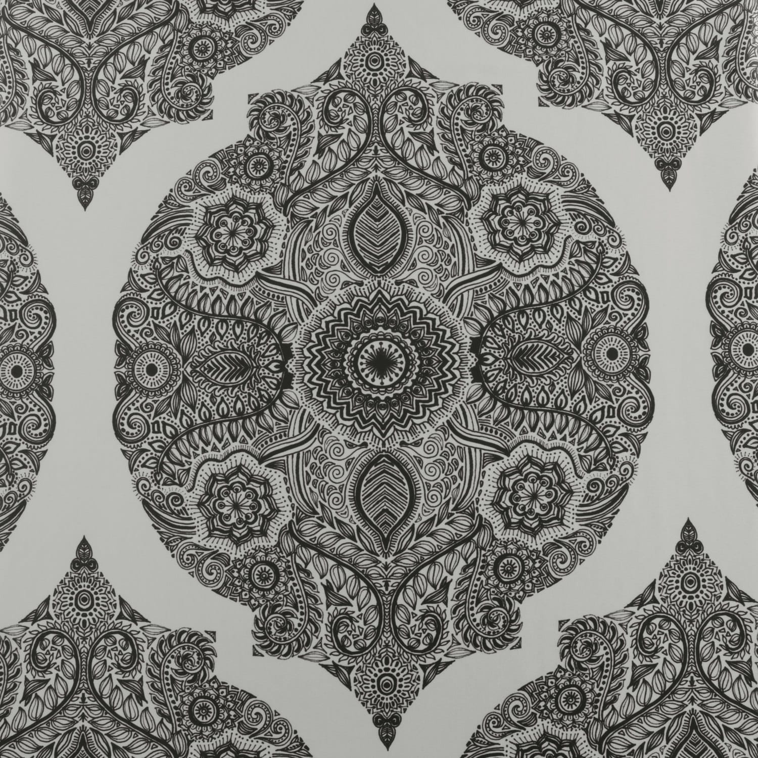 Royal Grey Printed Faux Silk Taffeta Blackout Swatch