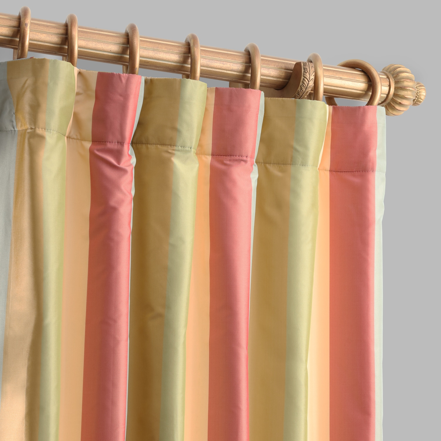 Hapsford Designer Striped Faux Silk Curtain