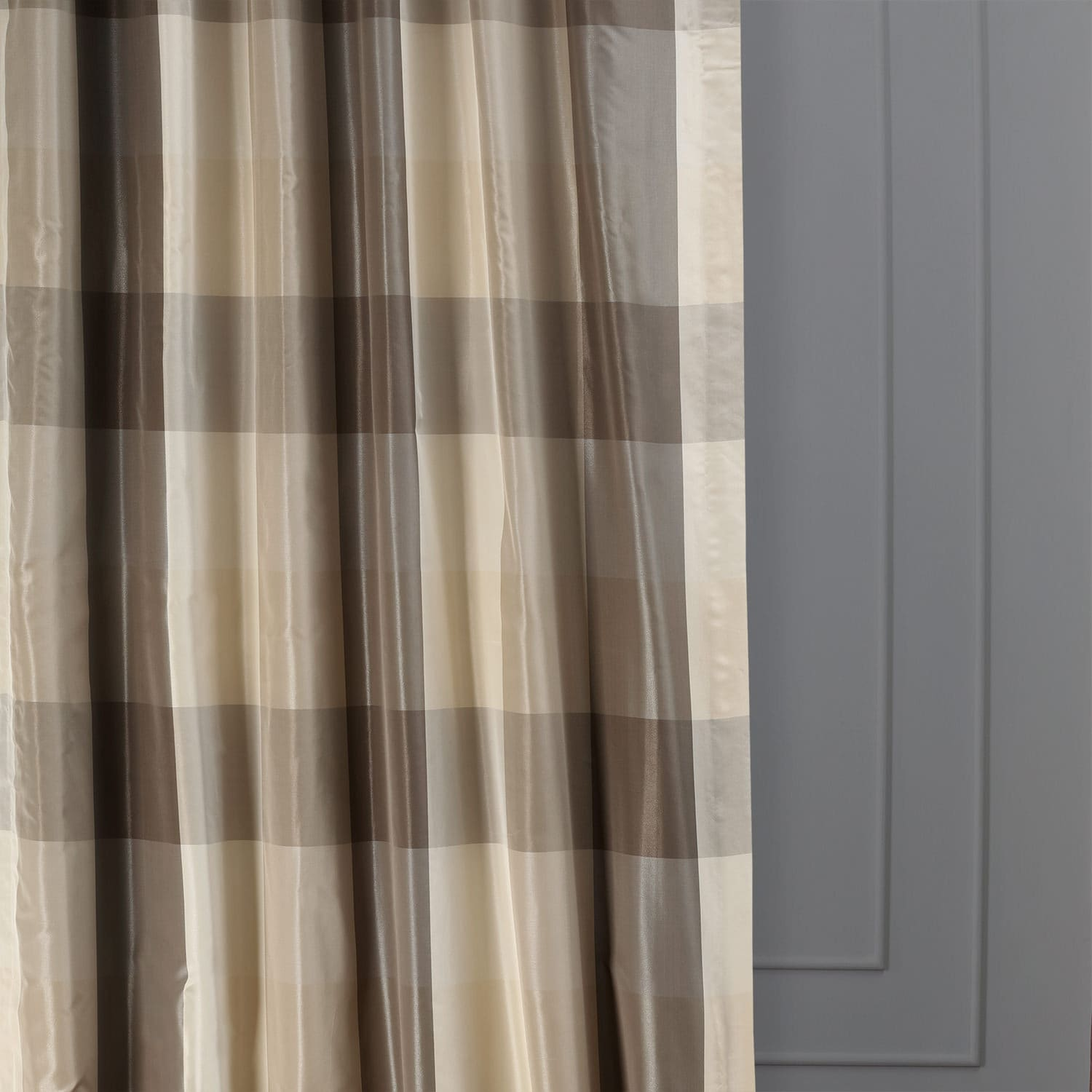 Sutton Faux Silk Plaid Curtain