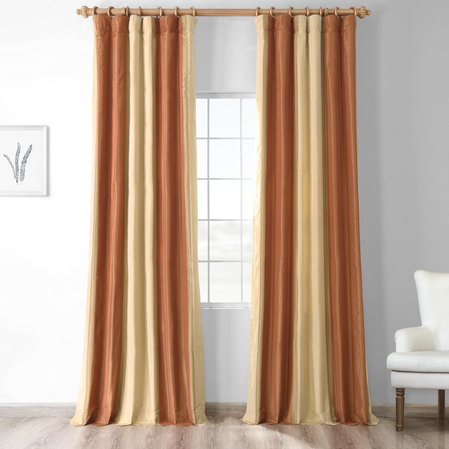 Dorset Luxury Faux Silk Stripe Curtain