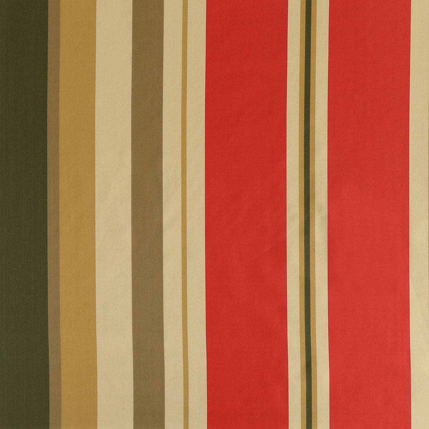 Orleans Bright Red & Gold Designer Striped Faux Silk Fabric