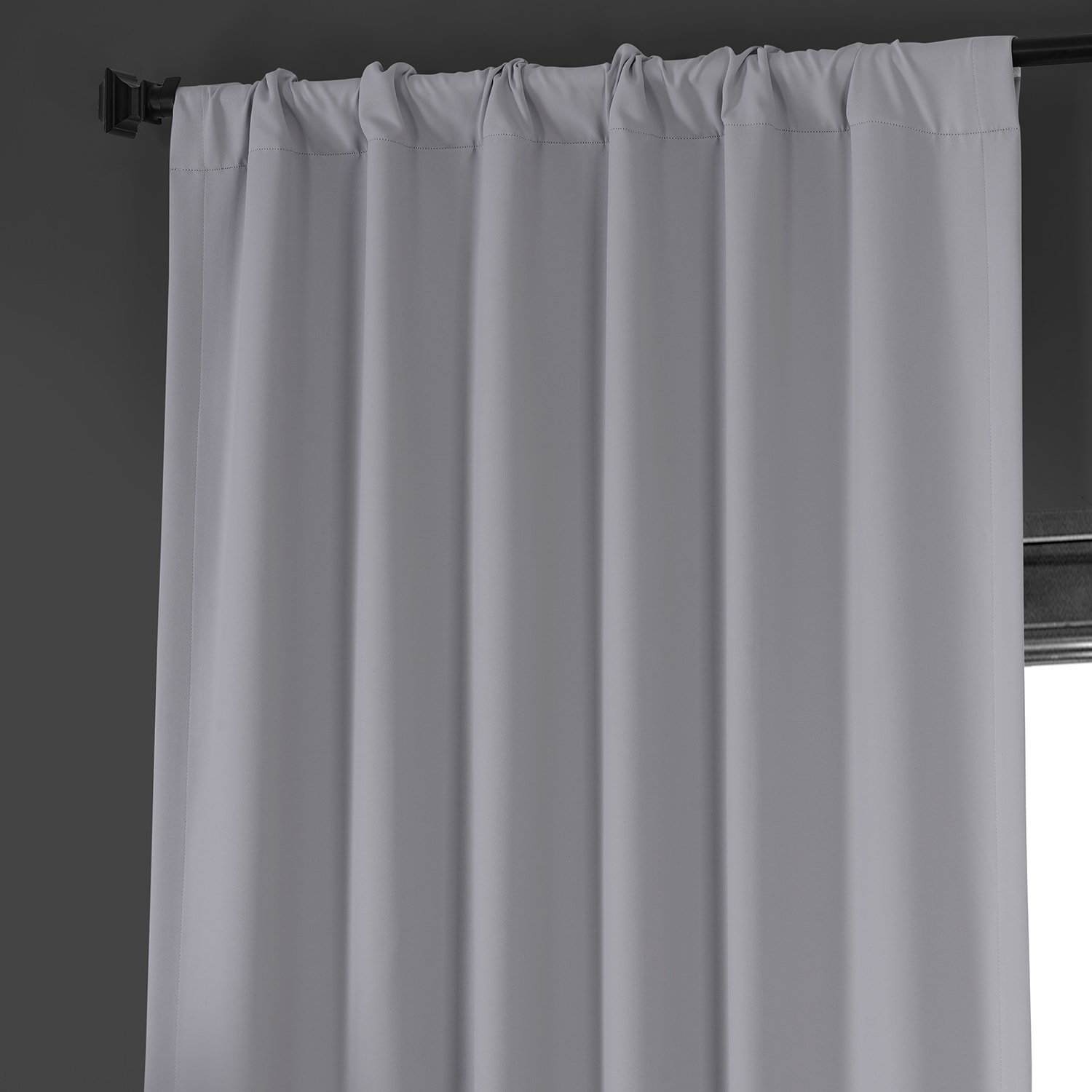 Network Grey Performance Woven Blackout Curtain Pair (2 Panels)
