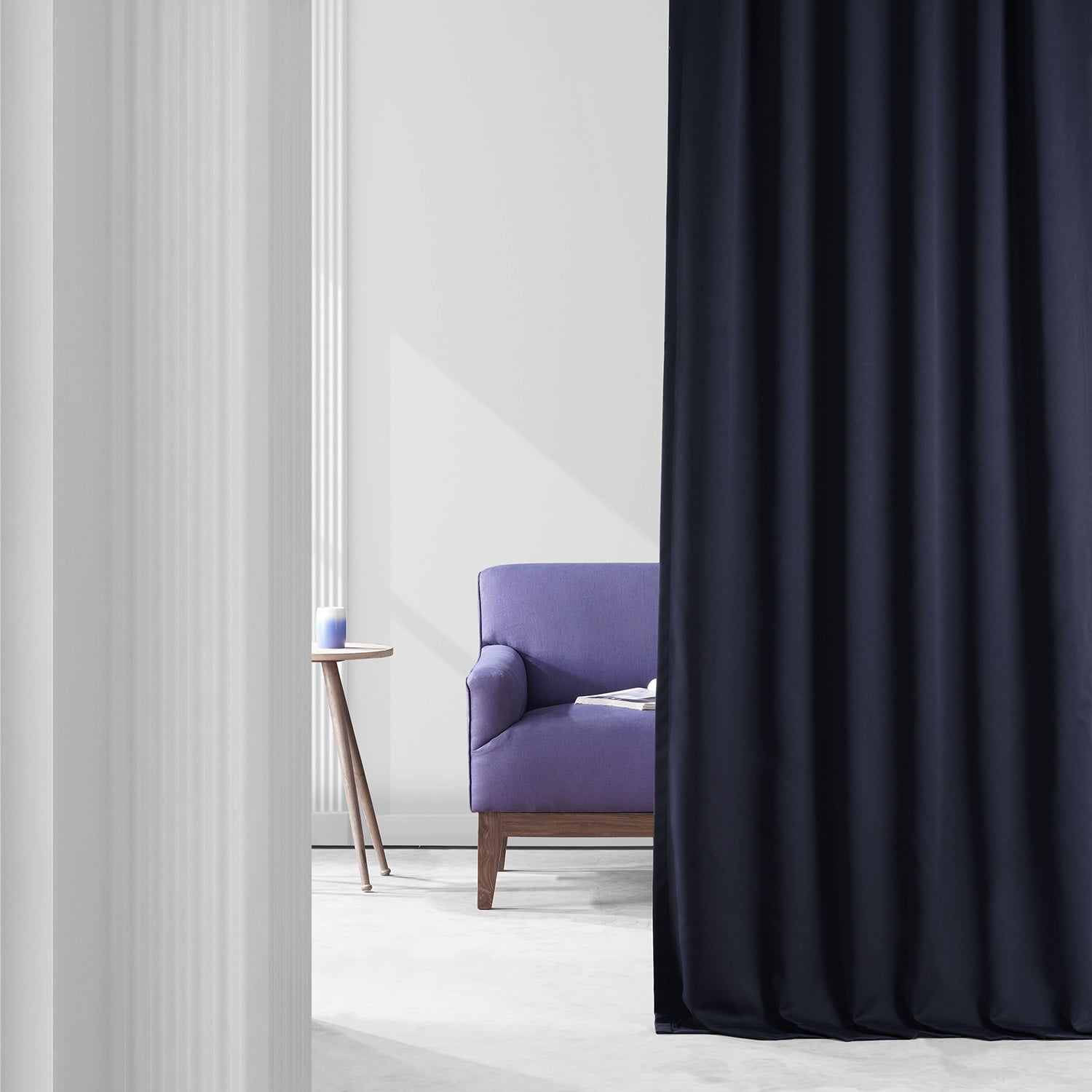 Grand Navy Performance Woven Blackout Curtain Pair (2 Panels)