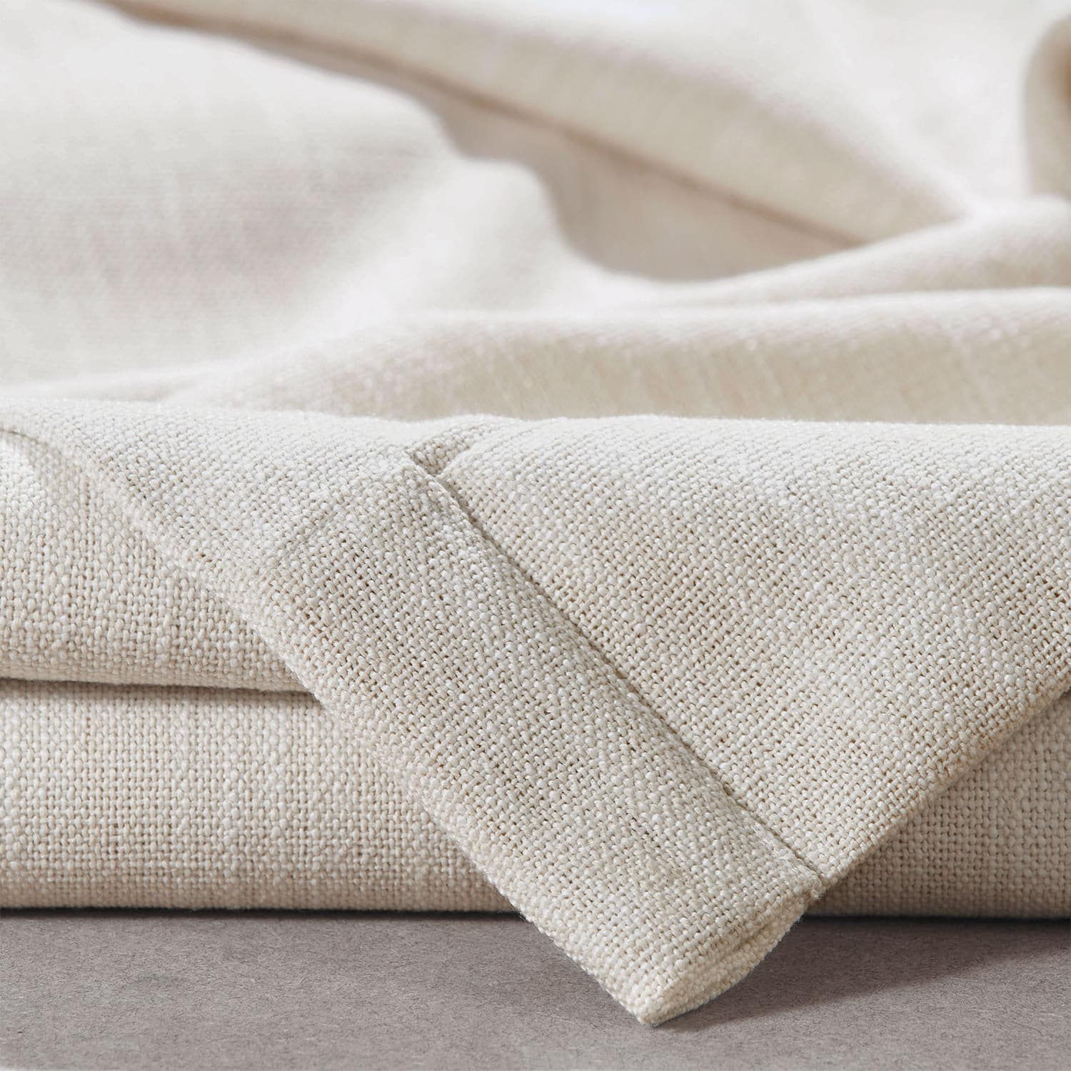 Country Cream Pebble Weave Faux Linen Swatch
