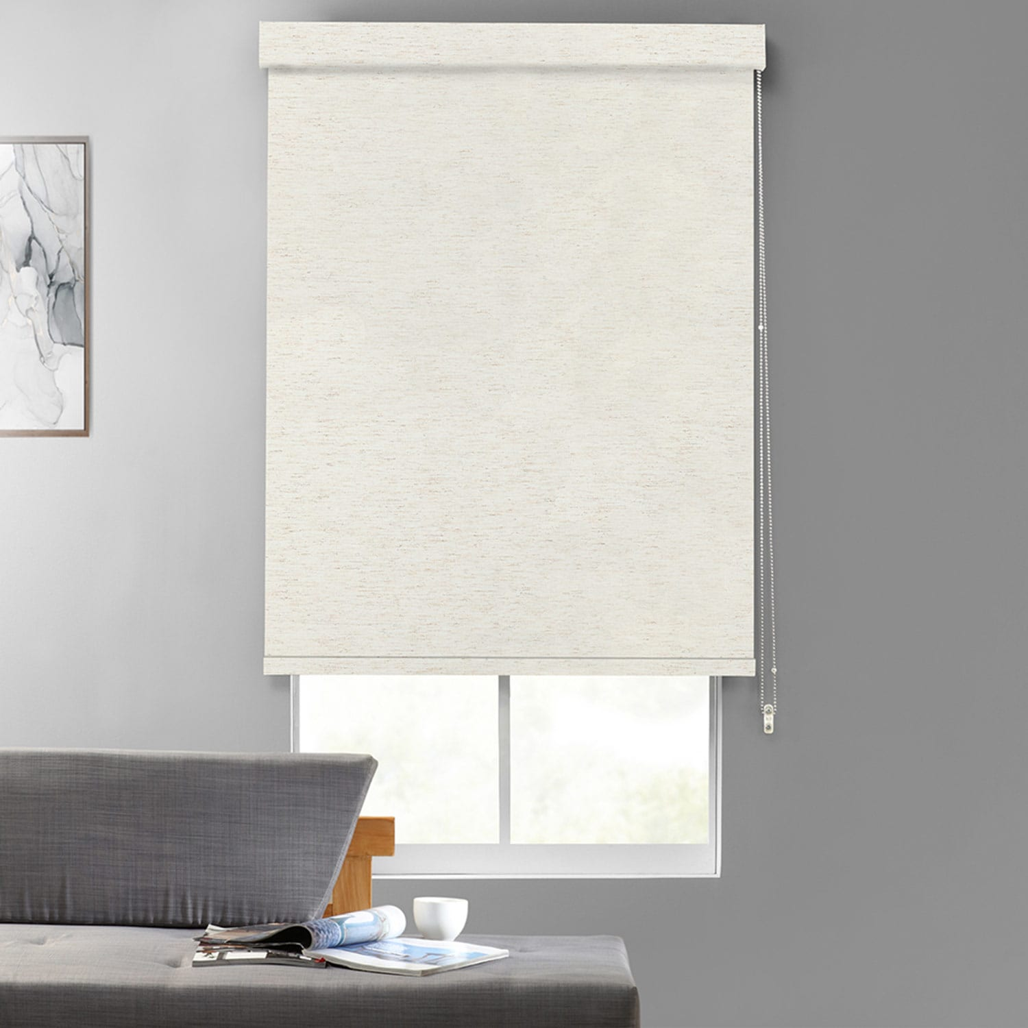 Heathered EvenWeave Textured Blackout Roller Shades