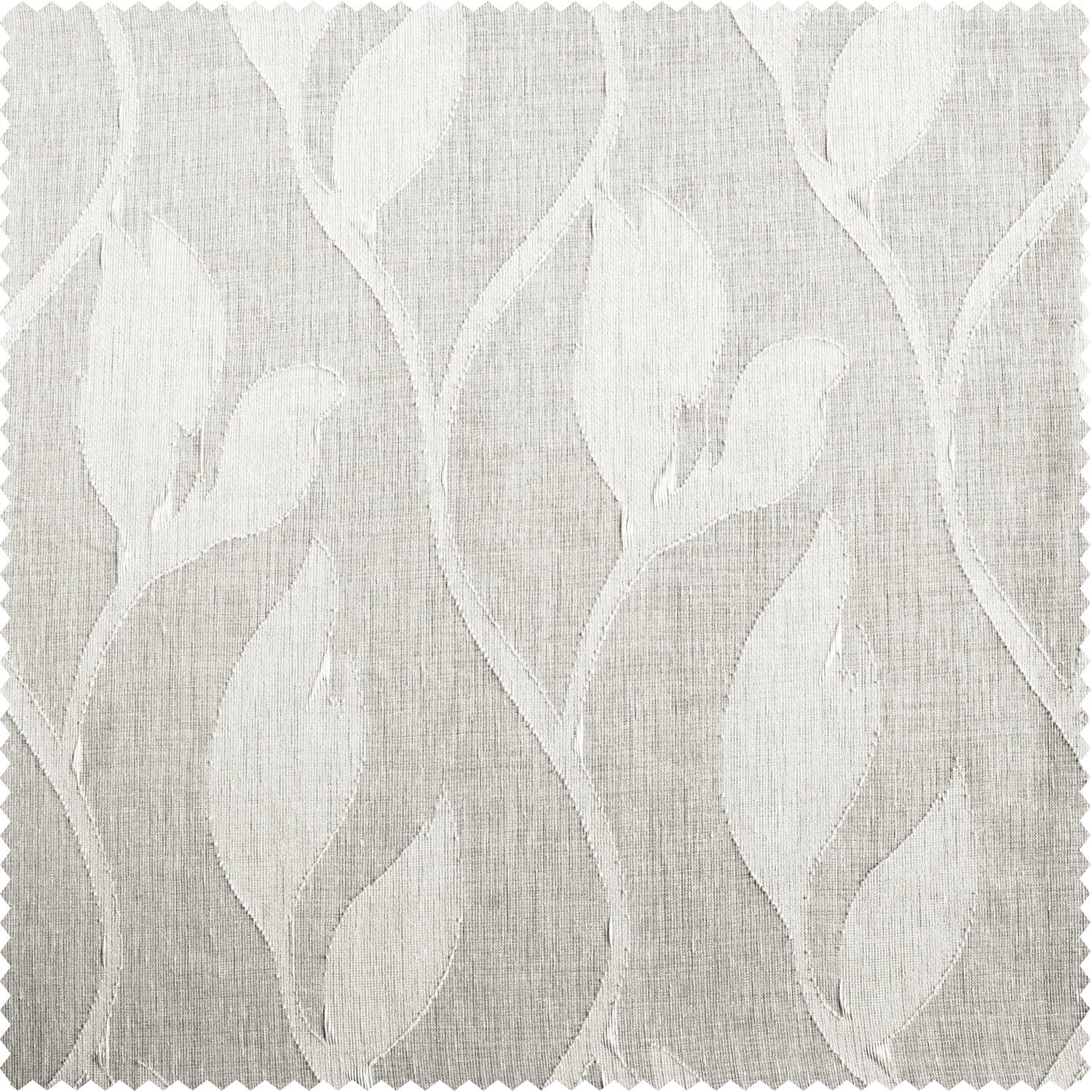 Avignon Vine Patterned Faux Linen Sheer Swatch