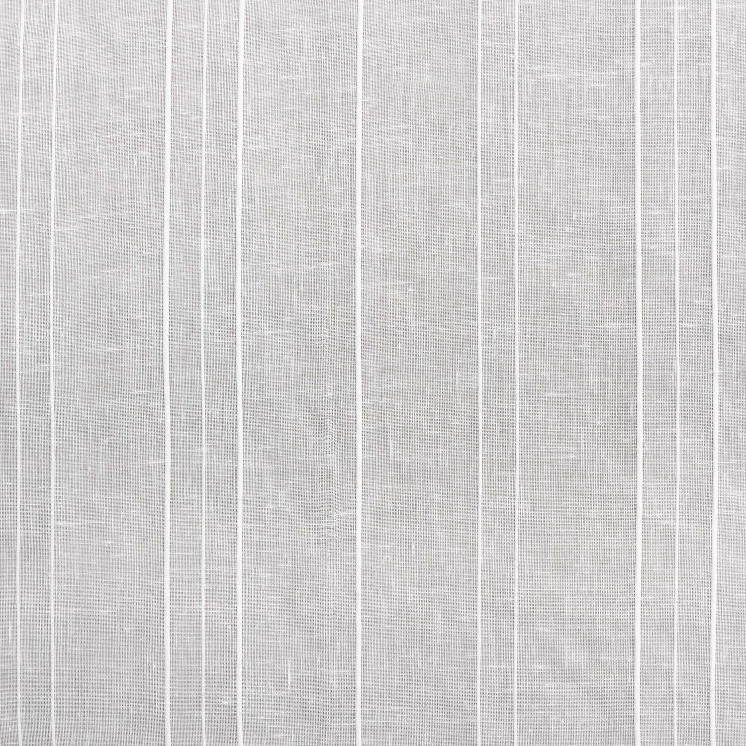 Bordeaux Striped Faux Linen Sheer Swatch