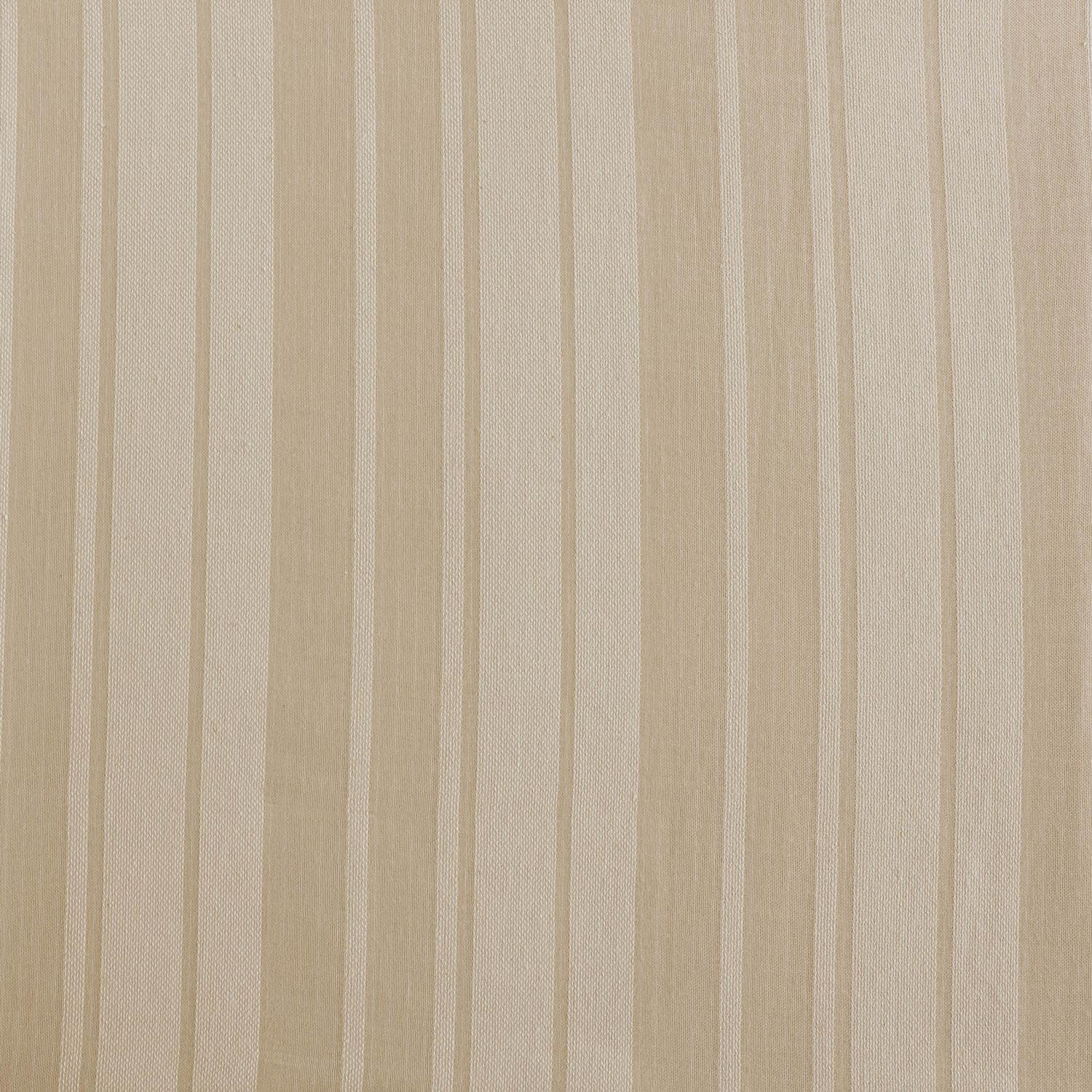 Cayman Natural Striped Linen Sheer Fabric