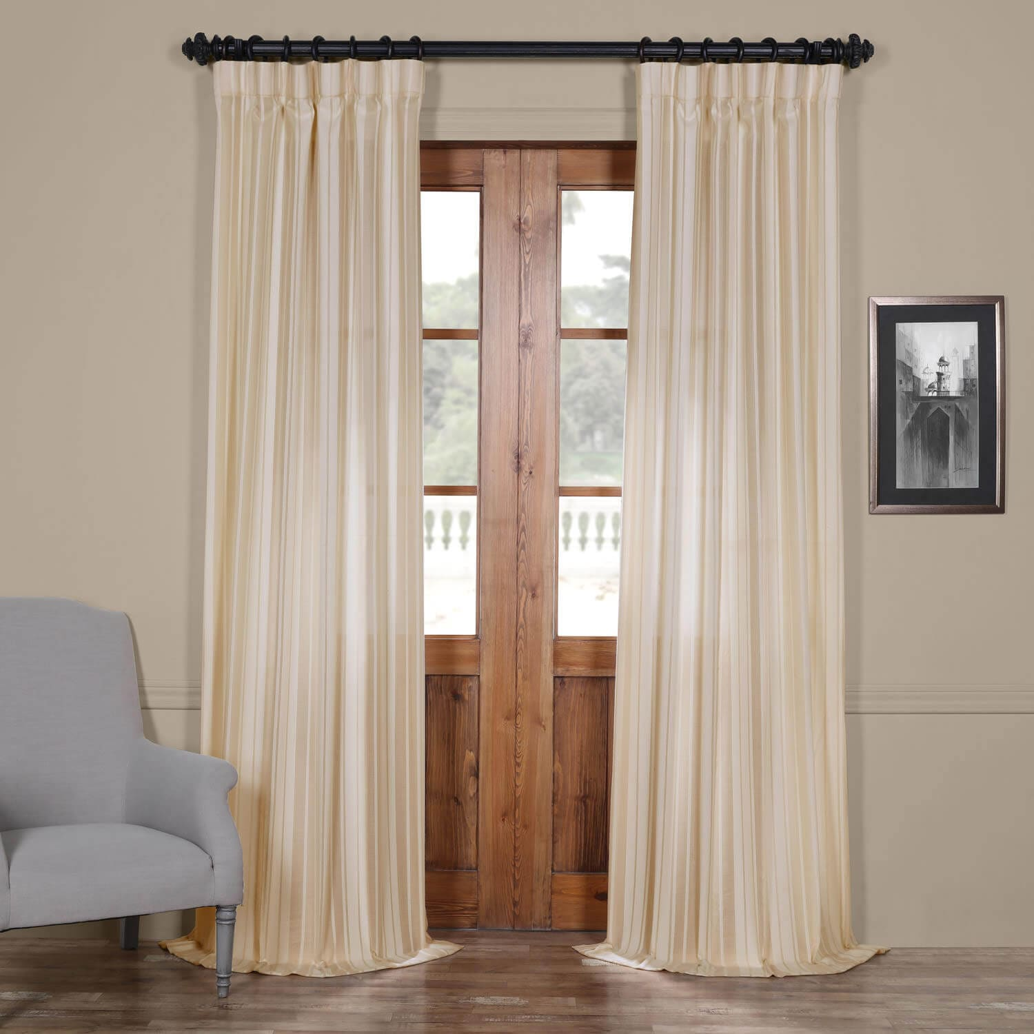 Price Cayman Natural Striped Linen Sheer Curtain Coupon Codes
