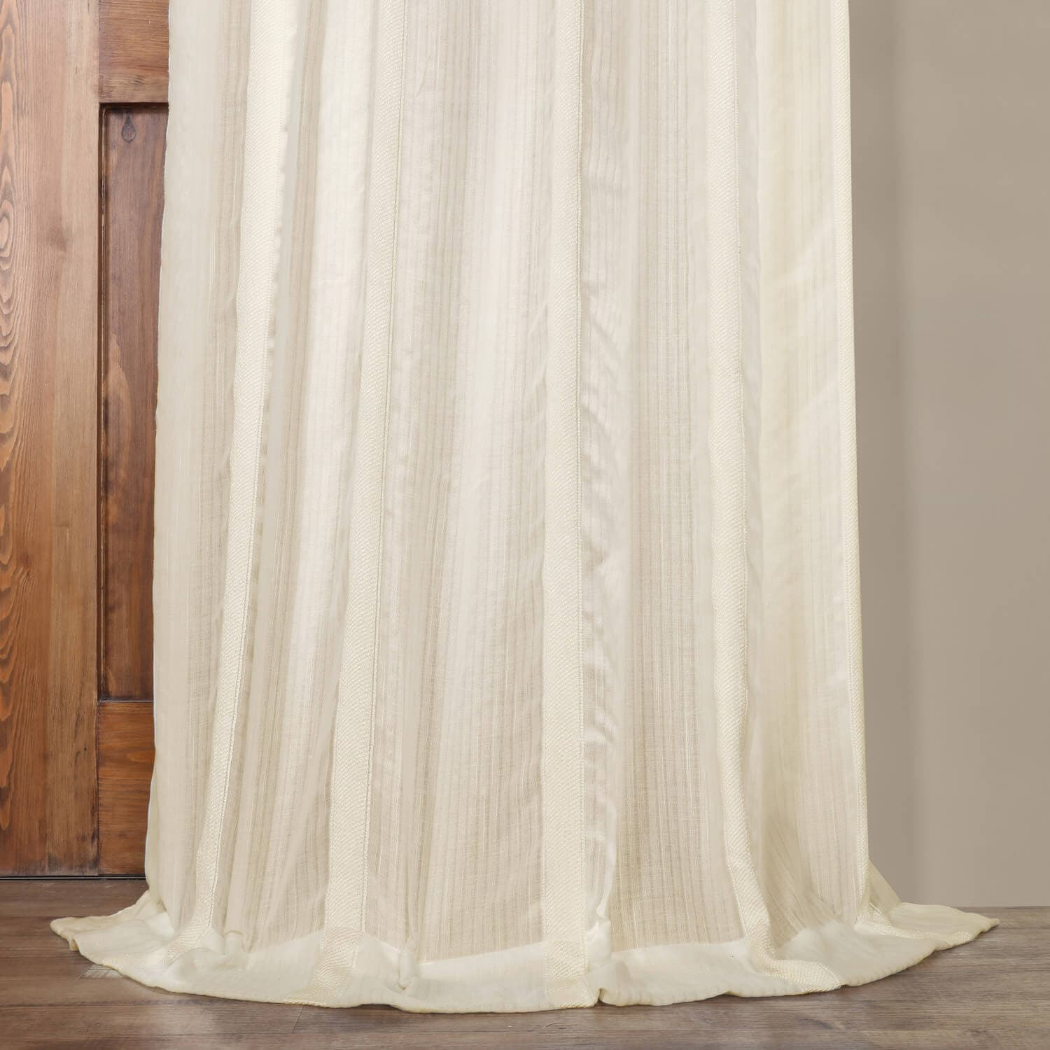 Linen Stripe Kitchen Curtains: Buy Antigua Off White Striped Linen Sheer Curtain