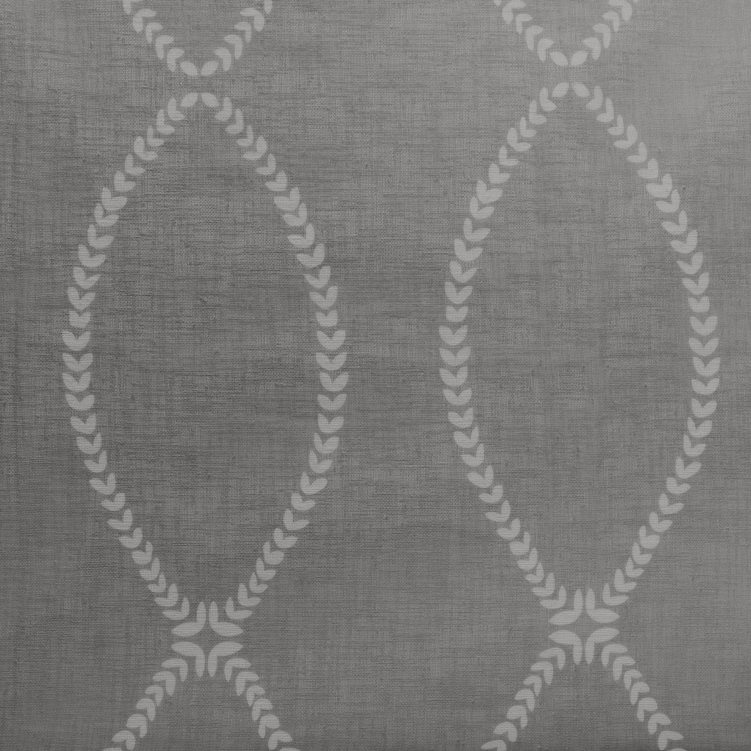Grecian Grey Printed Sheer Swatch
