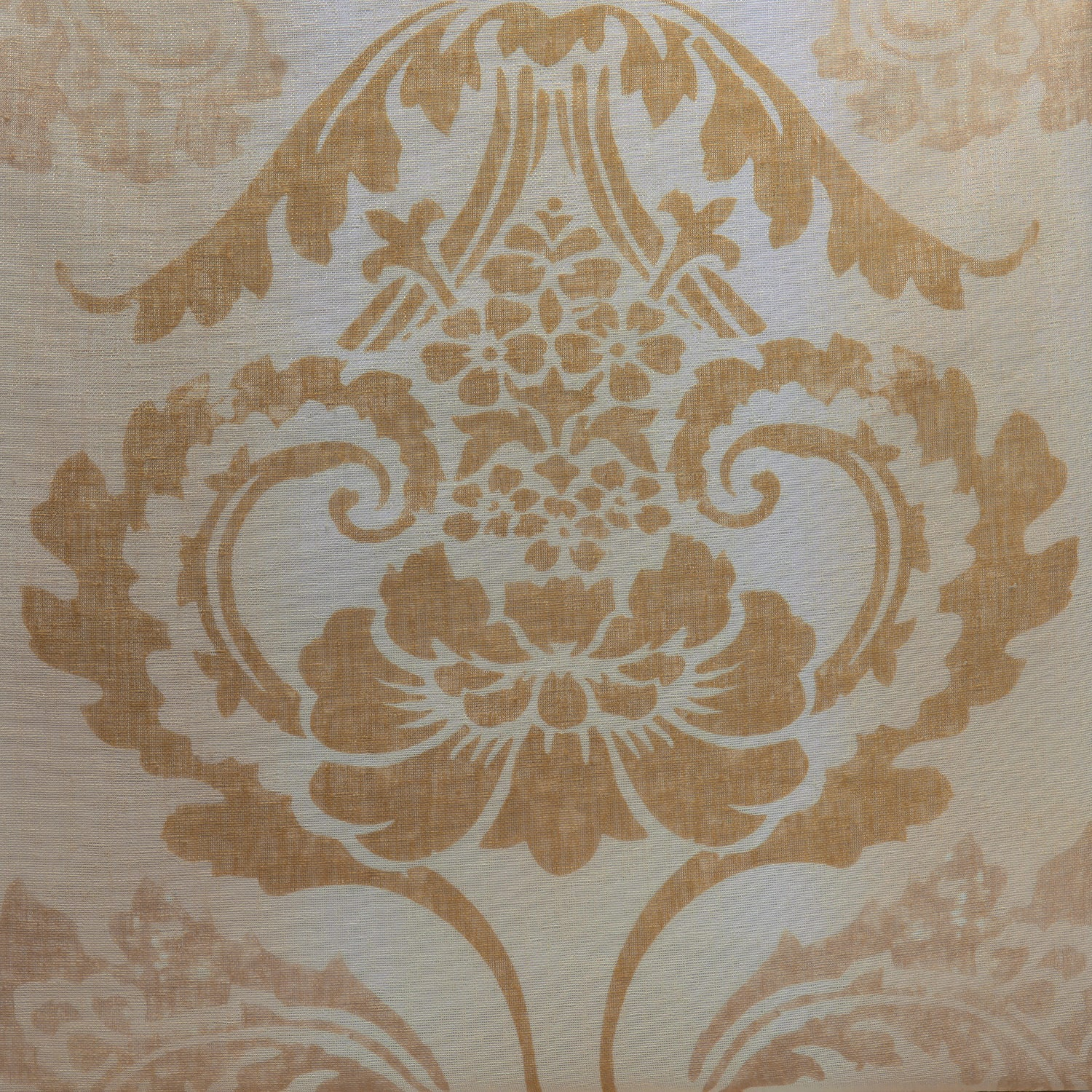 Damascus Tan Printed Faux Linen Sheer Fabric