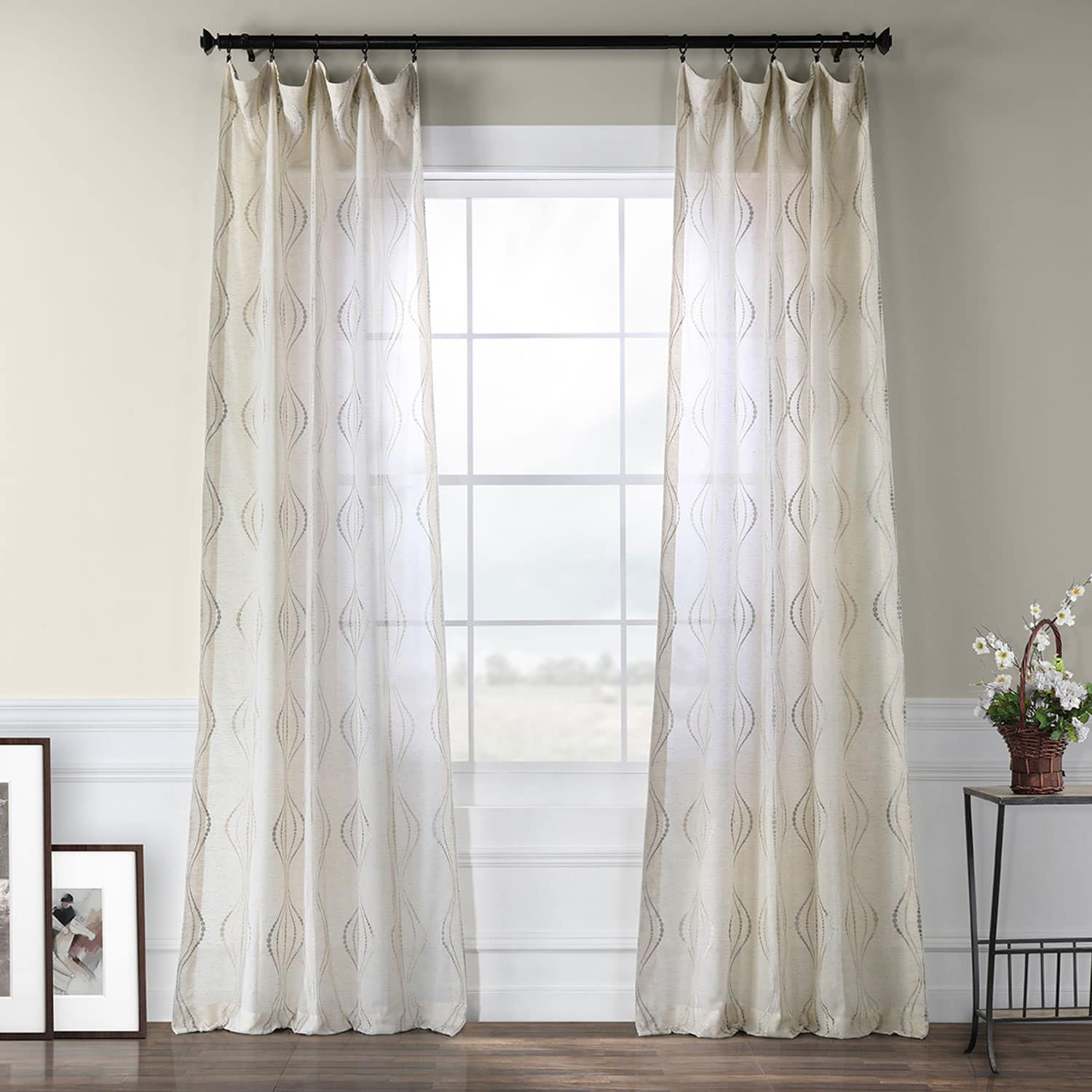 printed faux tab eos custom heading linen concealed top made curtains newspaper