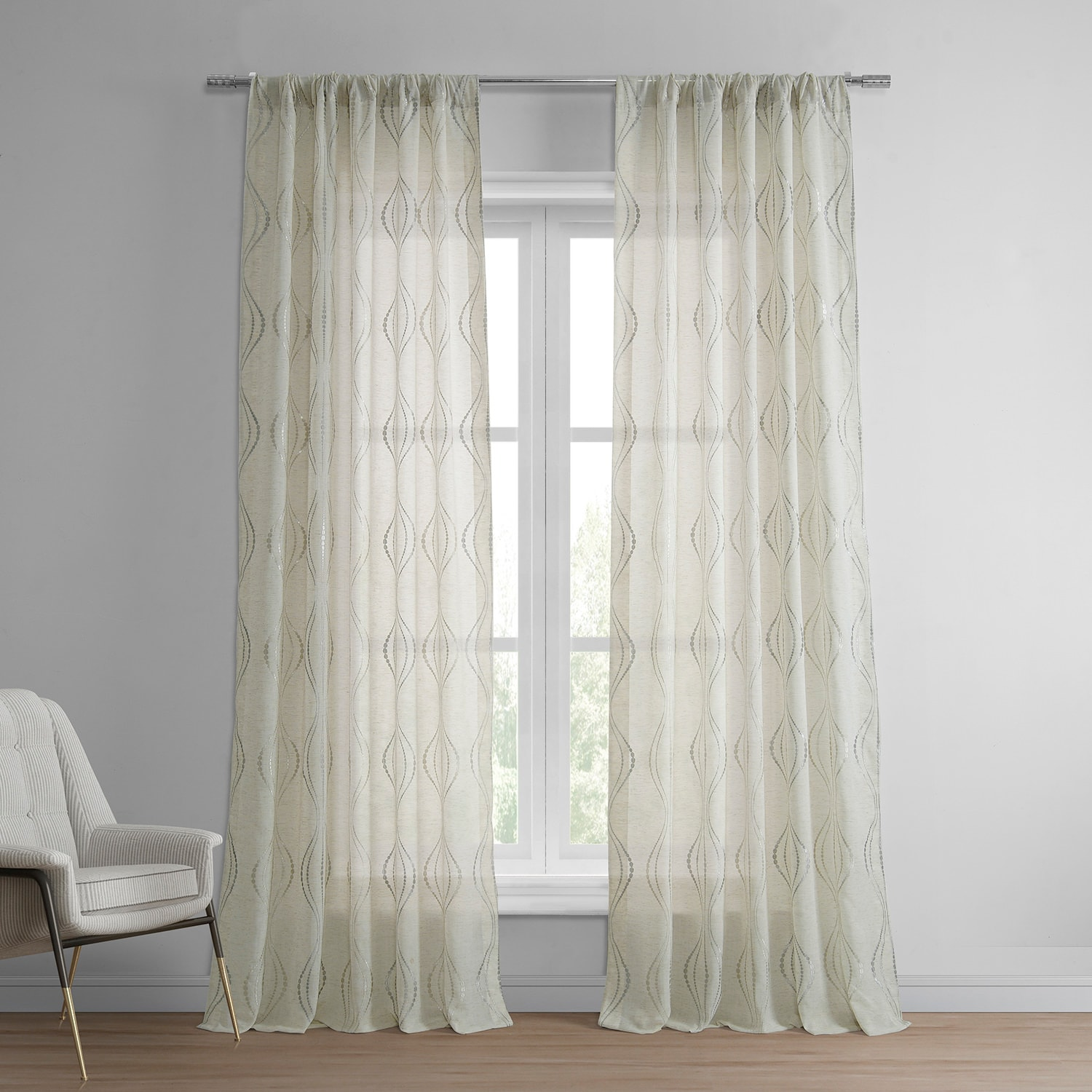 custom printed faux made eyelet heading curtains newspaper eos linen