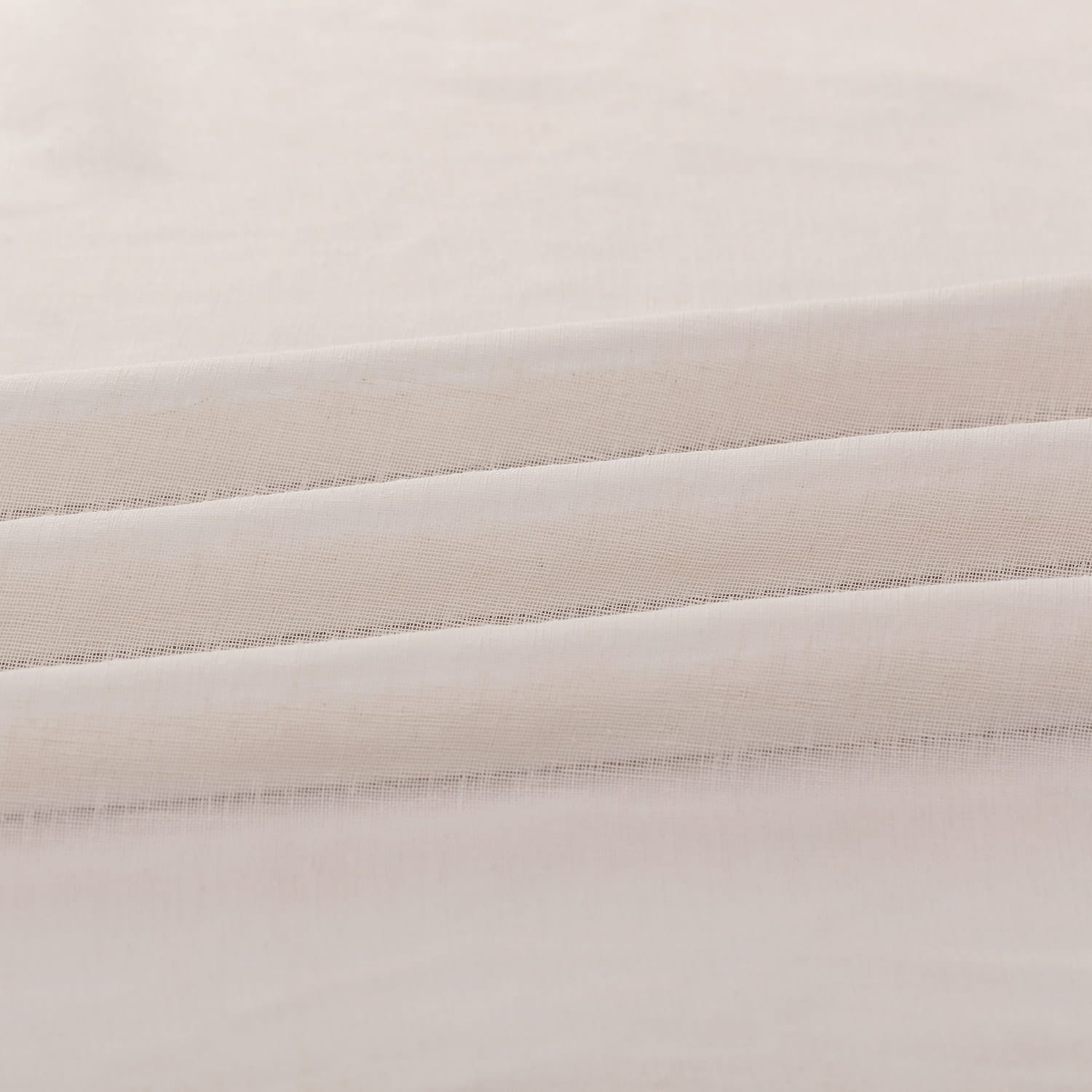 Cotton Seed Solid Faux Linen Sheer Fabric