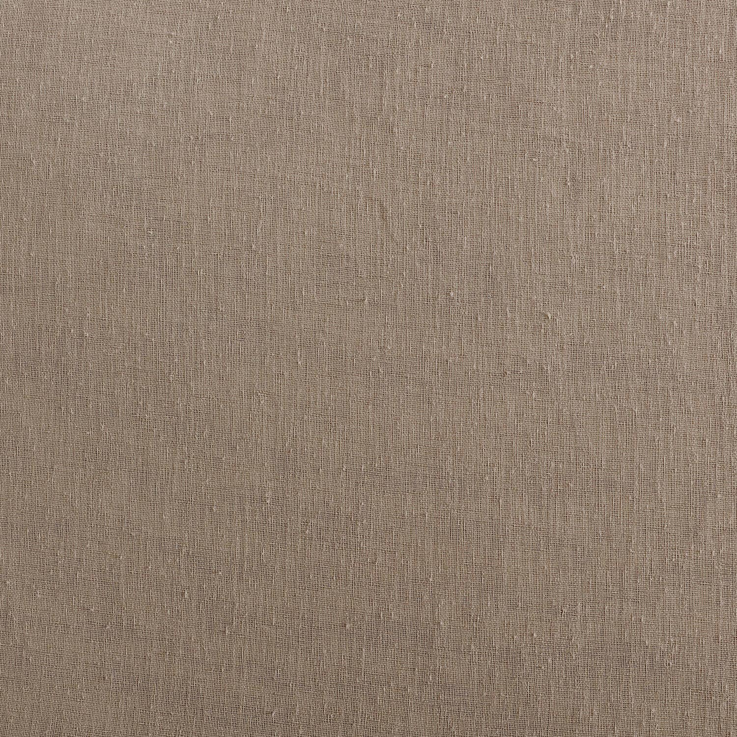 Nude Mauve Solid Faux Linen Sheer Swatch