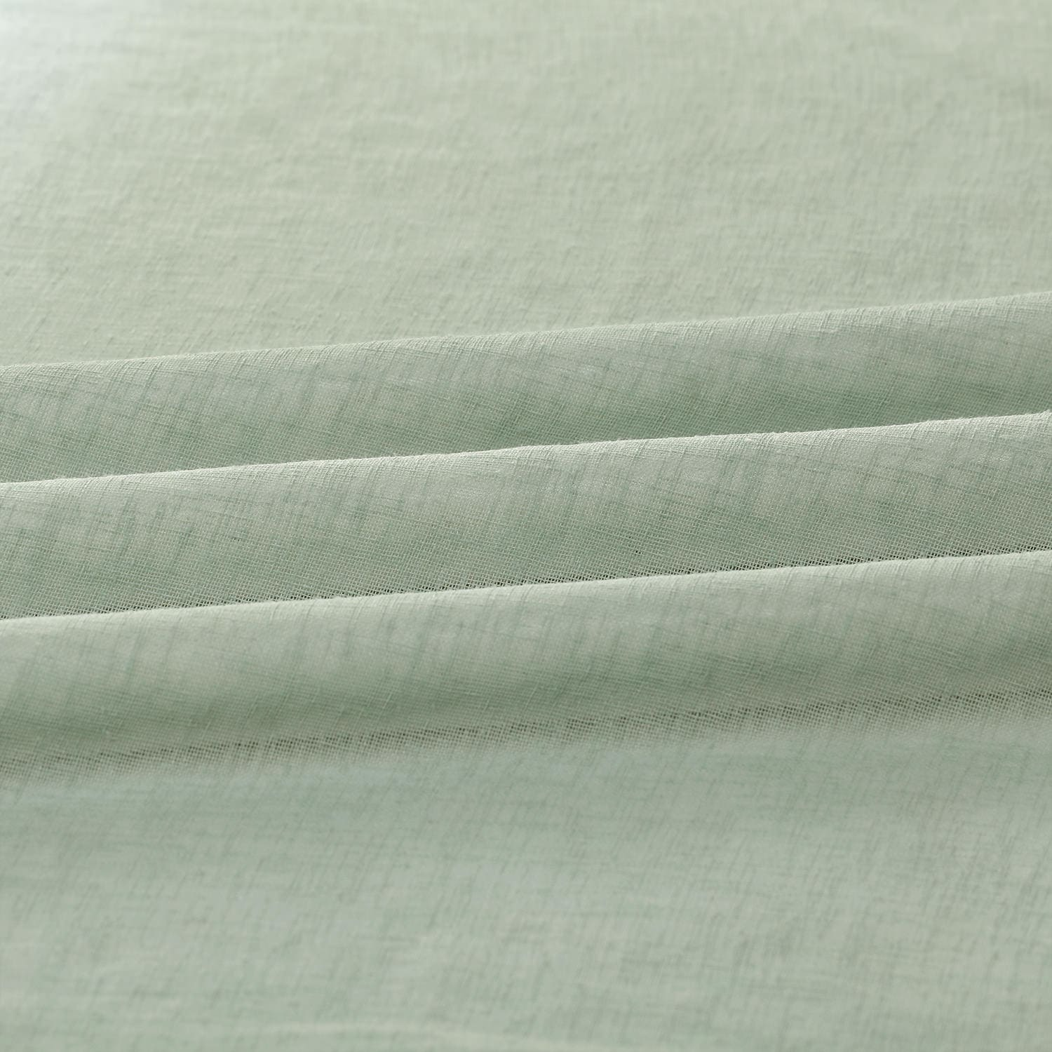 Rio Sky Solid Faux Linen Sheer Fabric