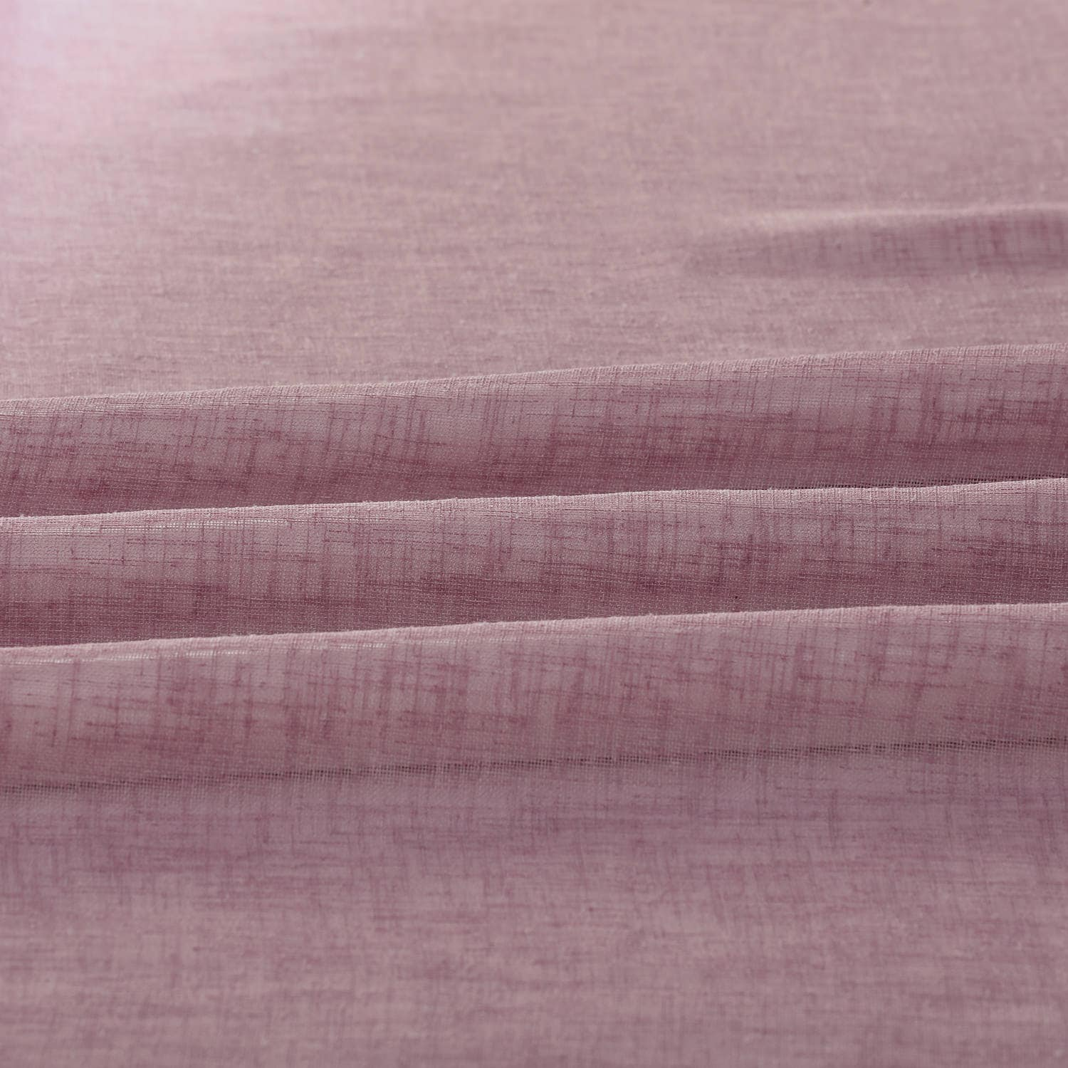 Blackberry Cream Solid Faux Linen Sheer Fabric