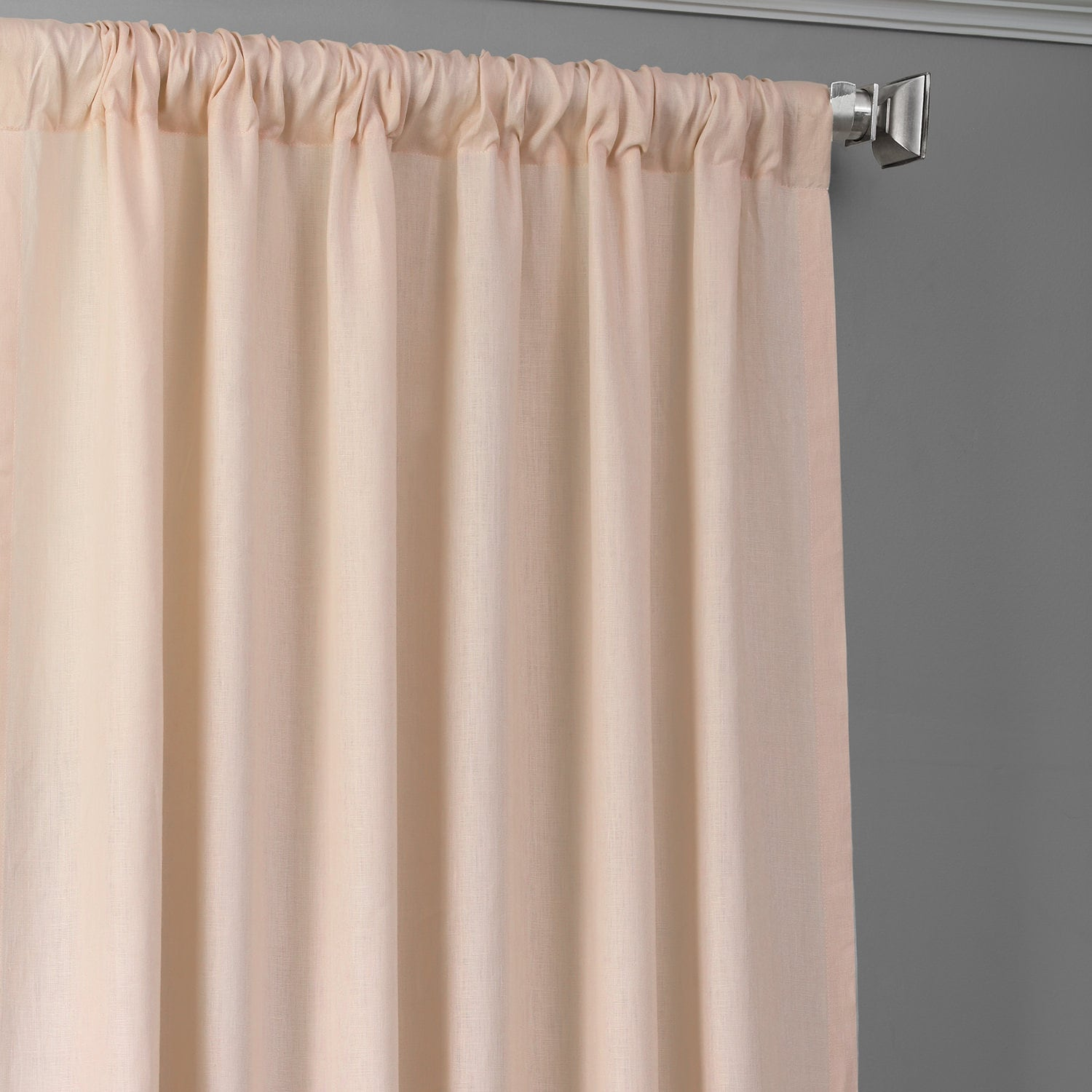 Signature Cherry Blossom Pink Linen Sheer Curtain