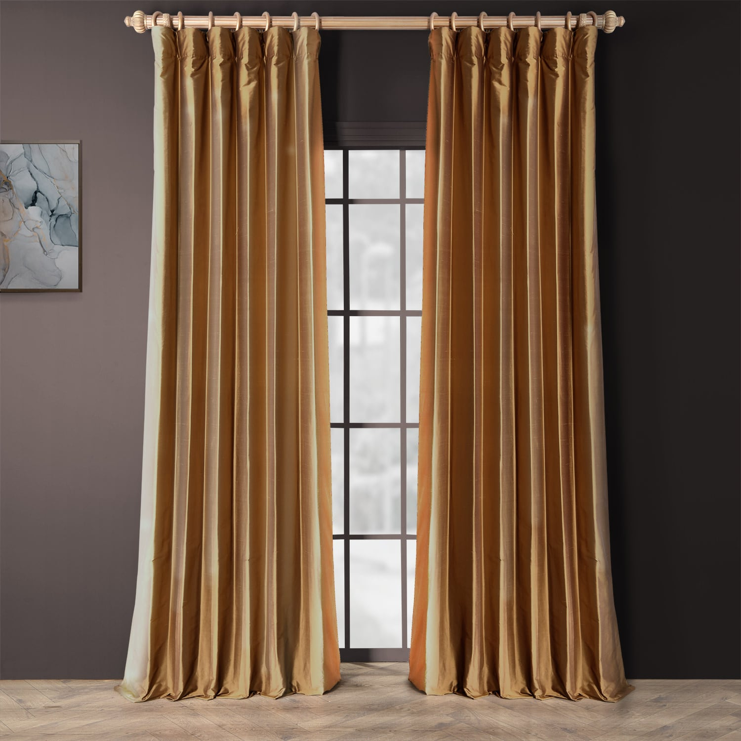 Fabulous Copper Silk Curtains | Half Price Drapes ZB11