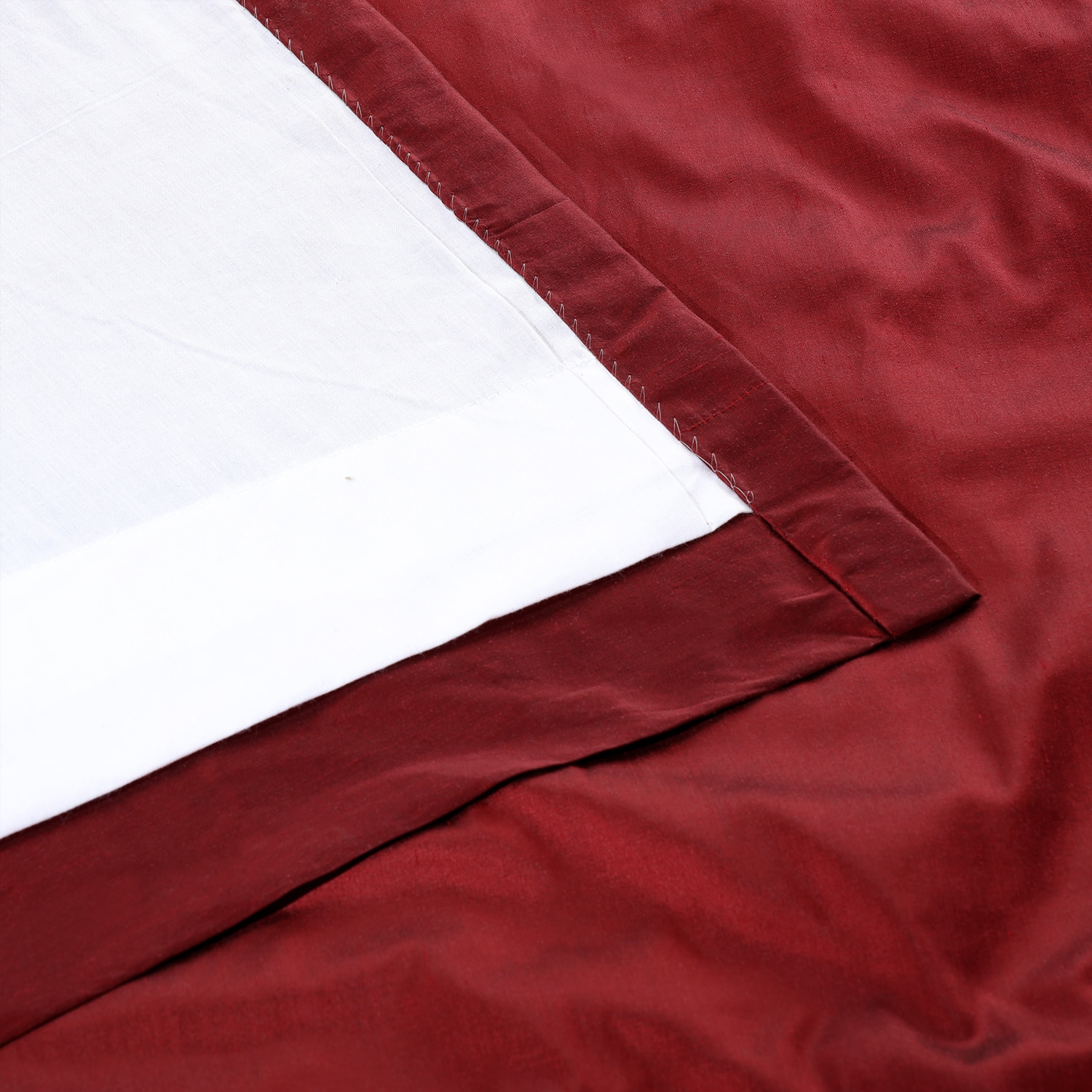 Bold Red Thai Silk Fabric