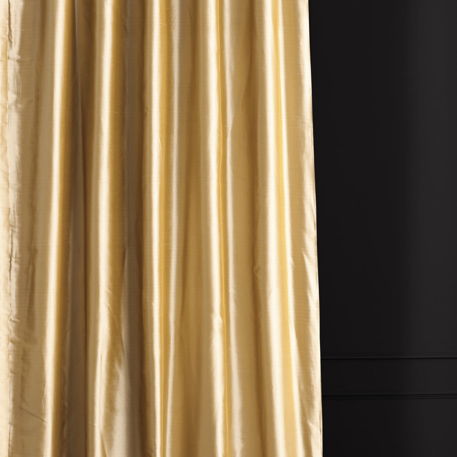 Butternut Gold Thai Silk Curtain