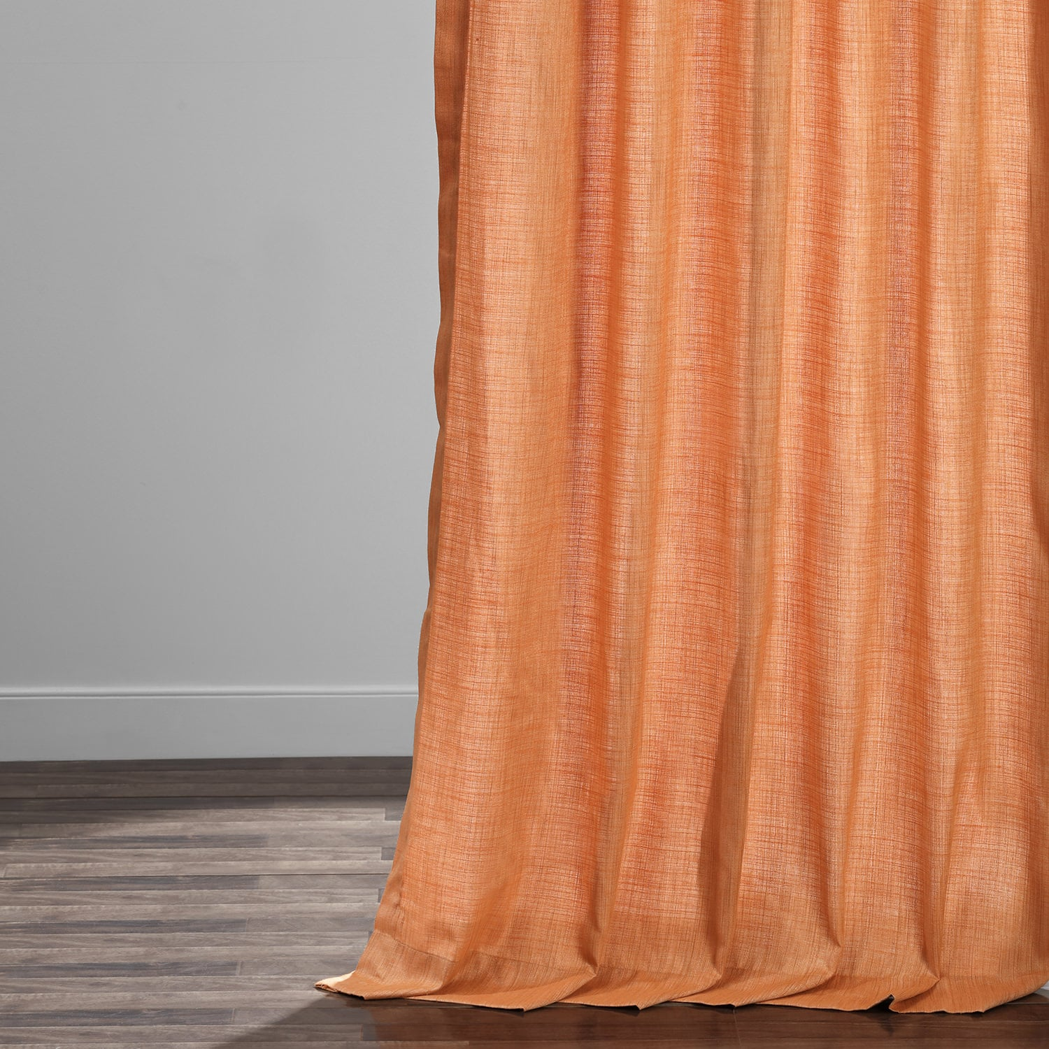 Monarch Orange Designer Shantung Faux Silk Curtains