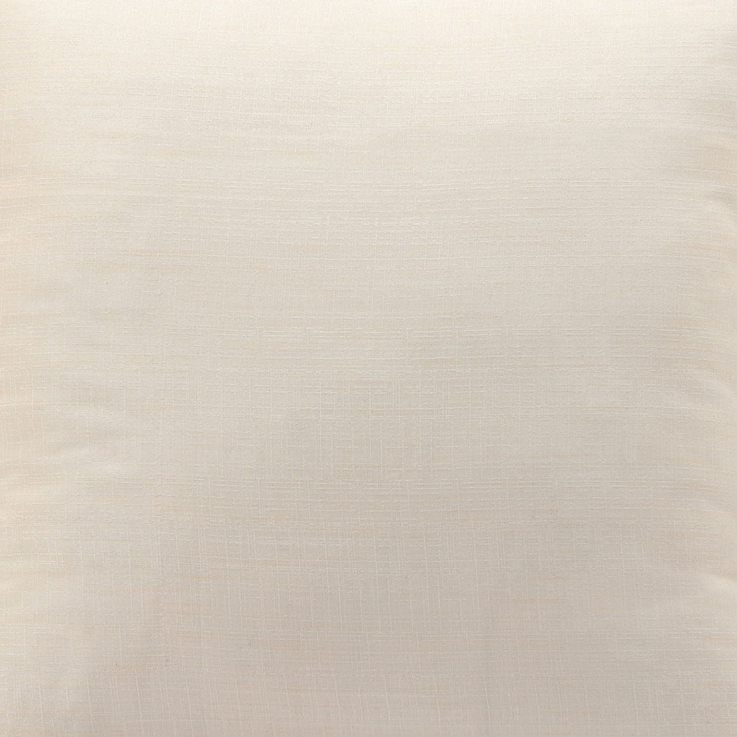 Ivory Designer Shantung Faux Silk Cushion Cover - Pair