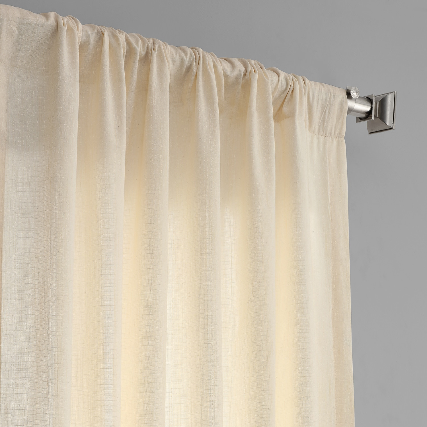 Ivory Designer Shantung Faux Silk Curtains