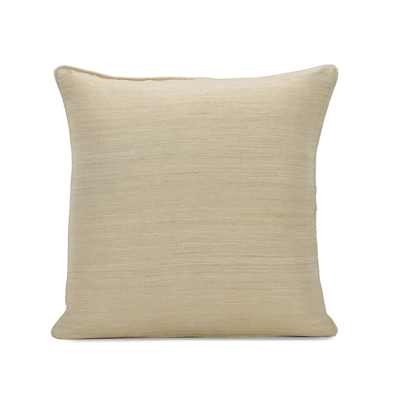 Cancun Sand Raw Silk Cushion Covers - Pair