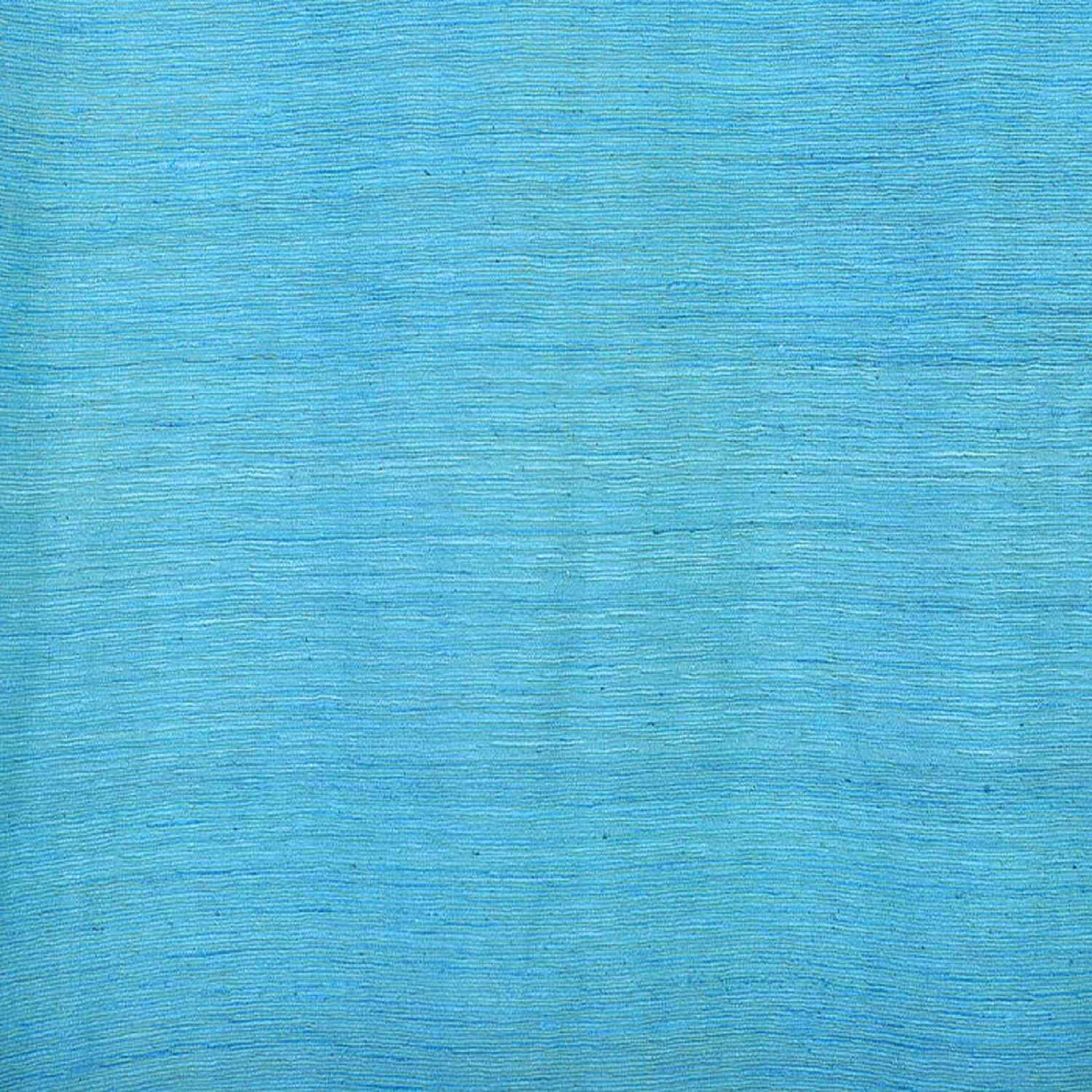 Cozumel Blue Raw Silk Fabric