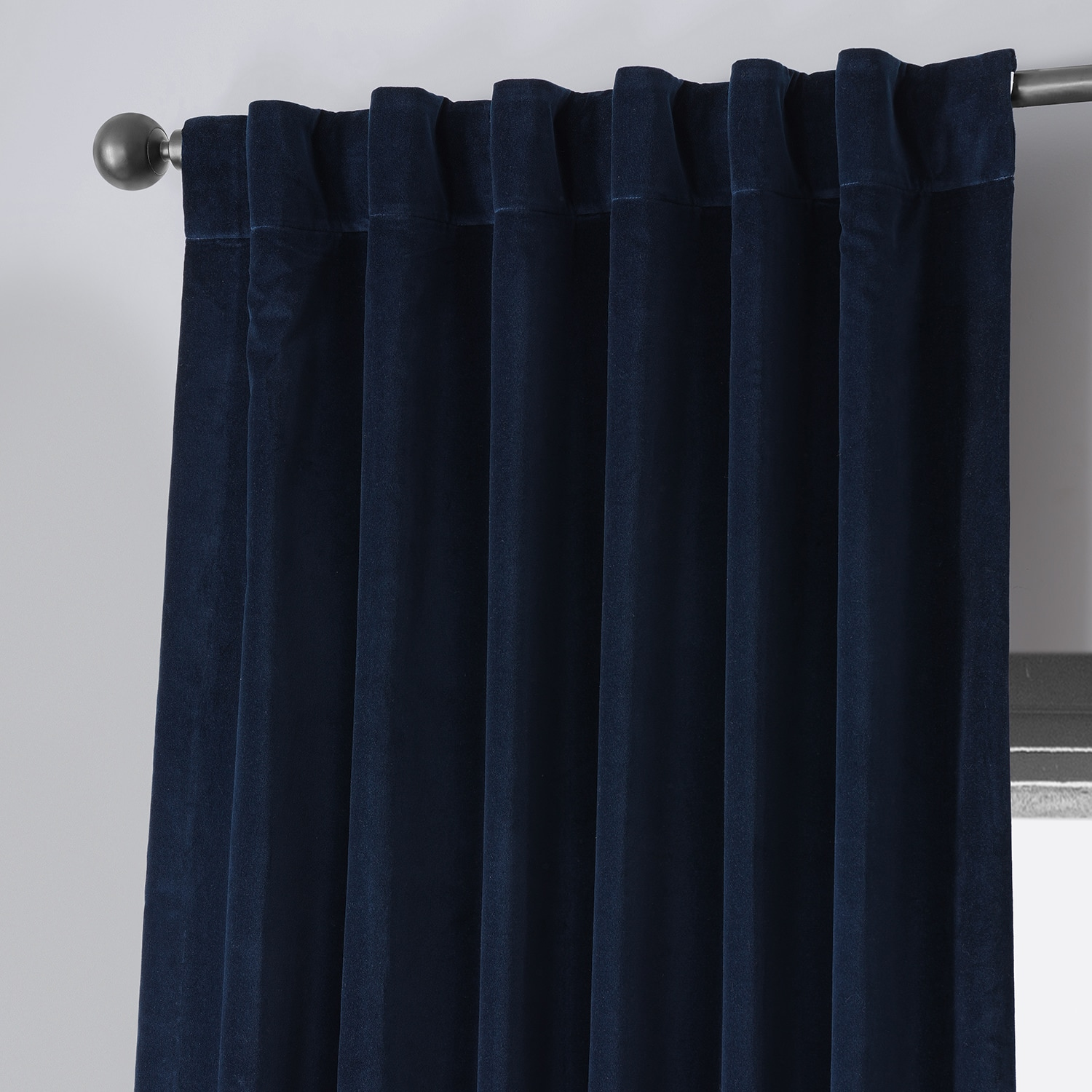 Astrology Blue Vintage Cotton Velvet Curtain