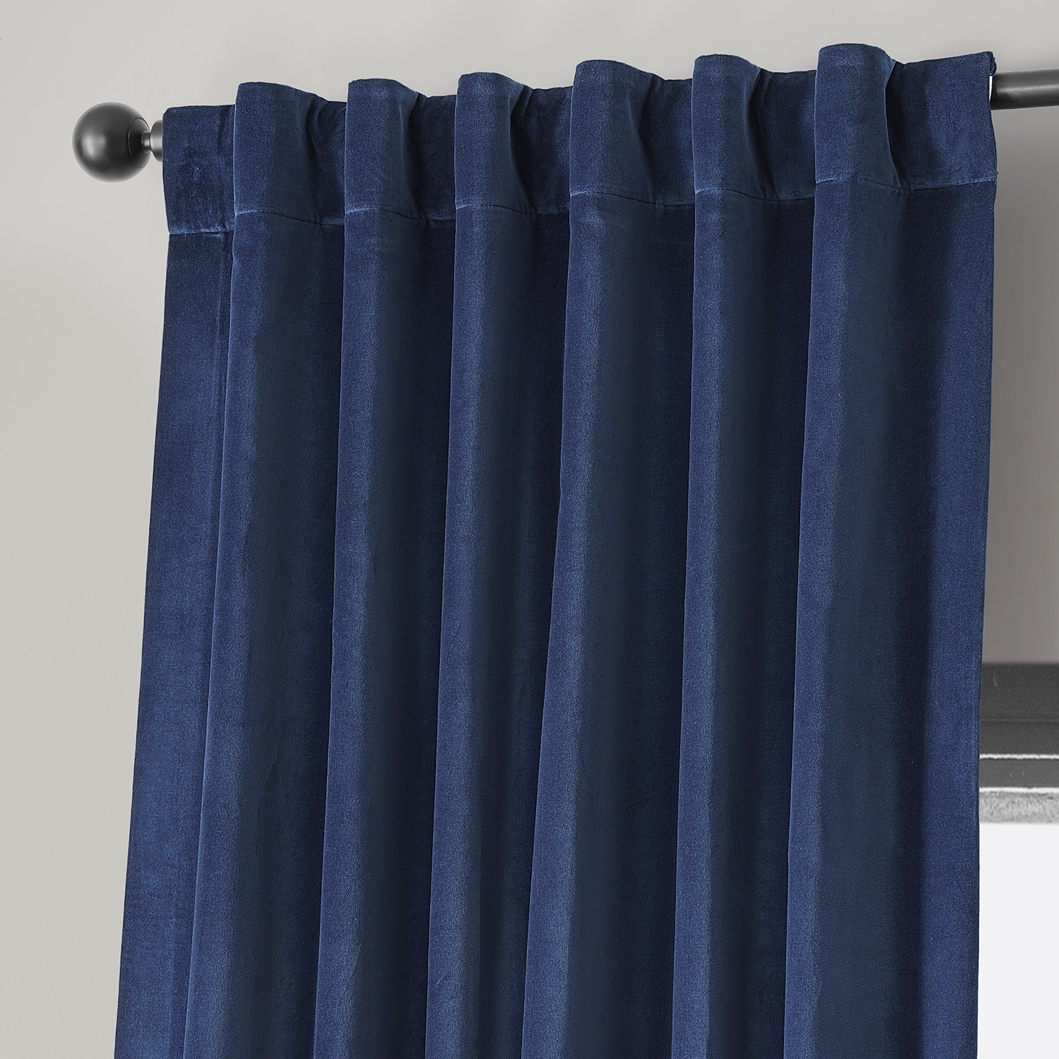 Jewelry Box Blue Vintage Cotton Velvet Curtain
