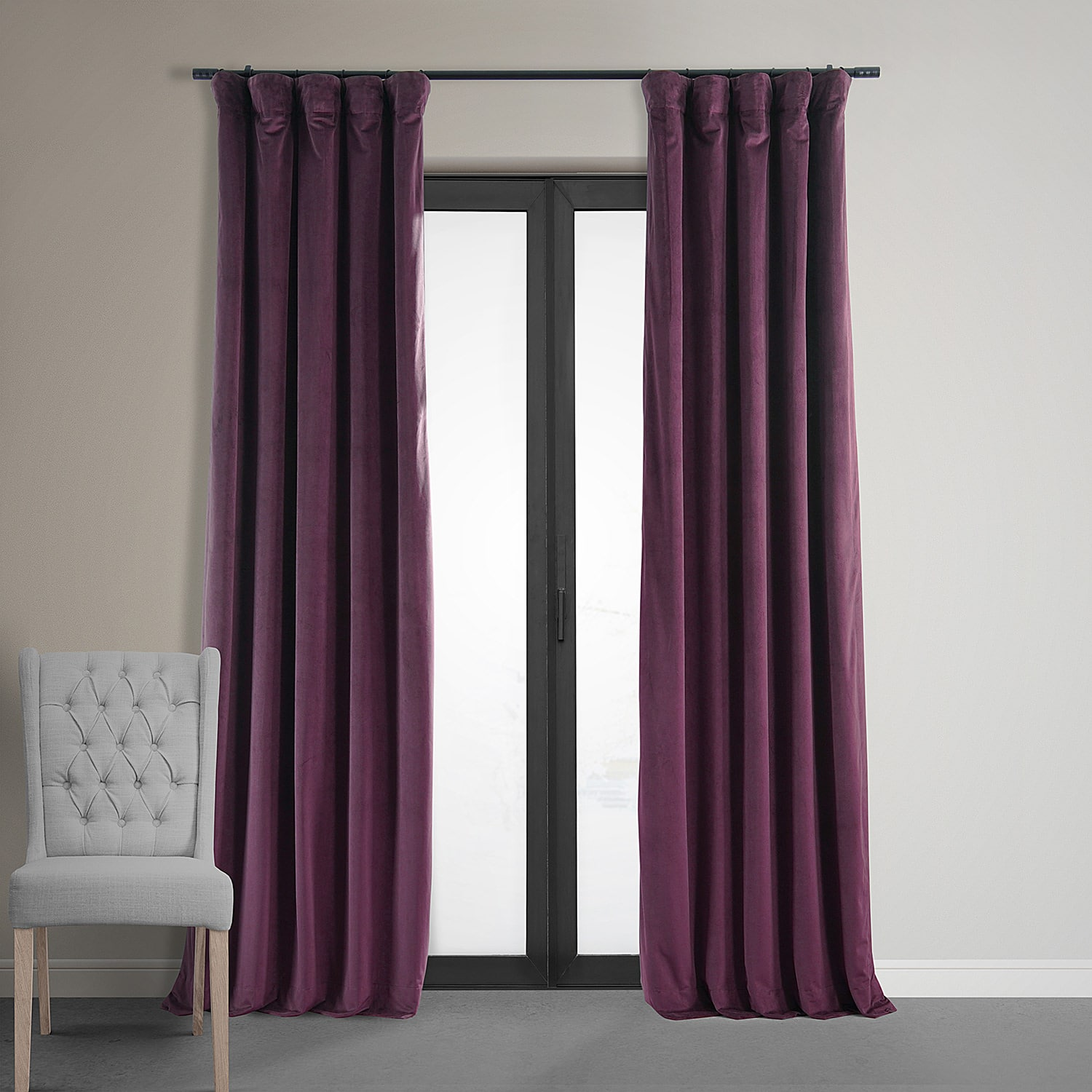 velvet soundproof curtain