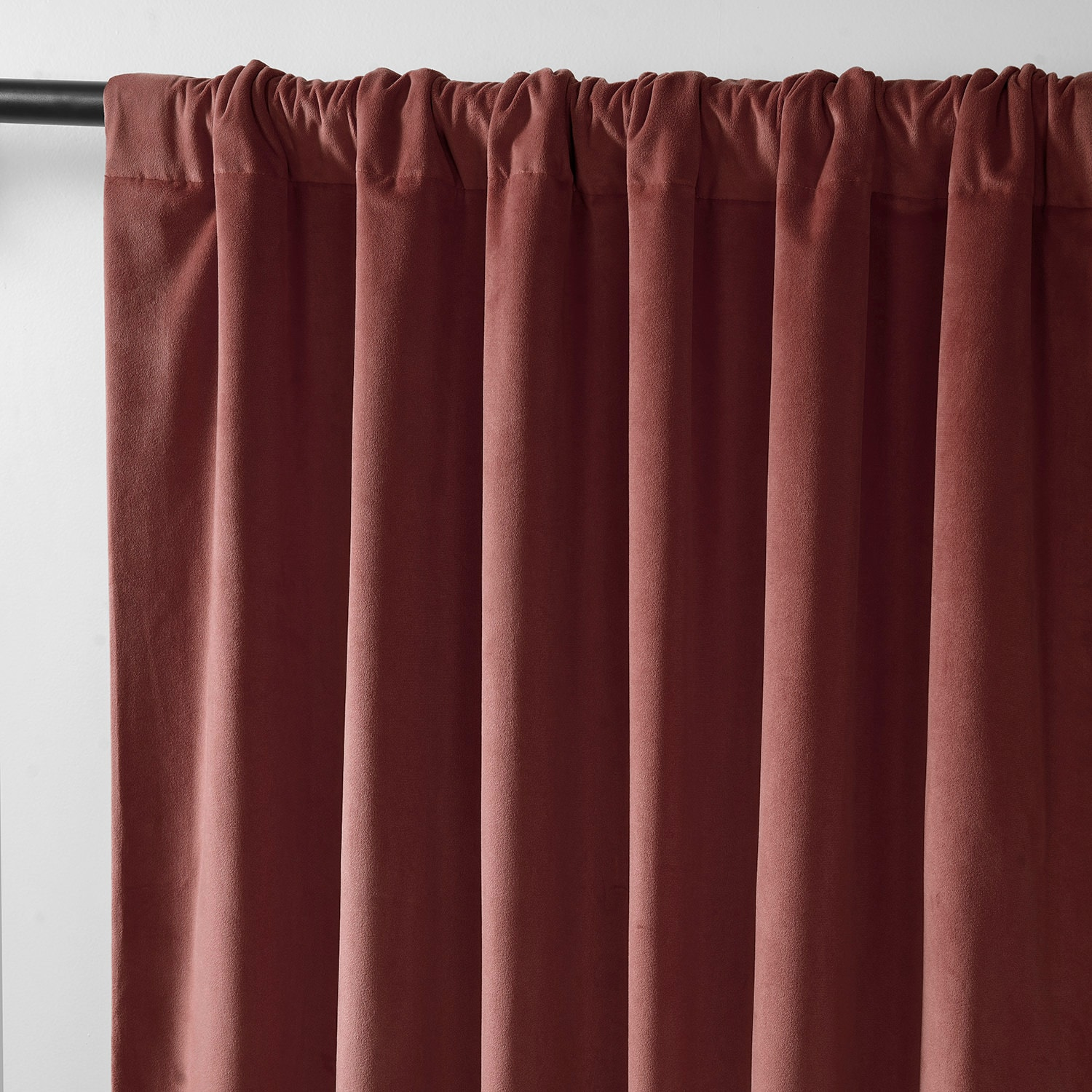 Signature Crimson Rust Blackout Velvet Curtain