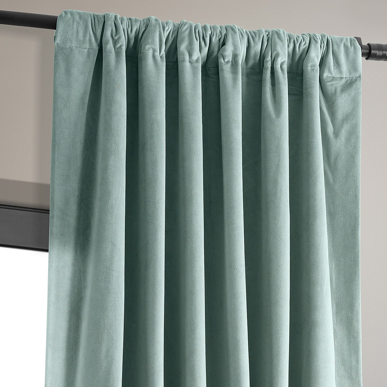 Signature Skylark Blue Blackout Velvet Curtain
