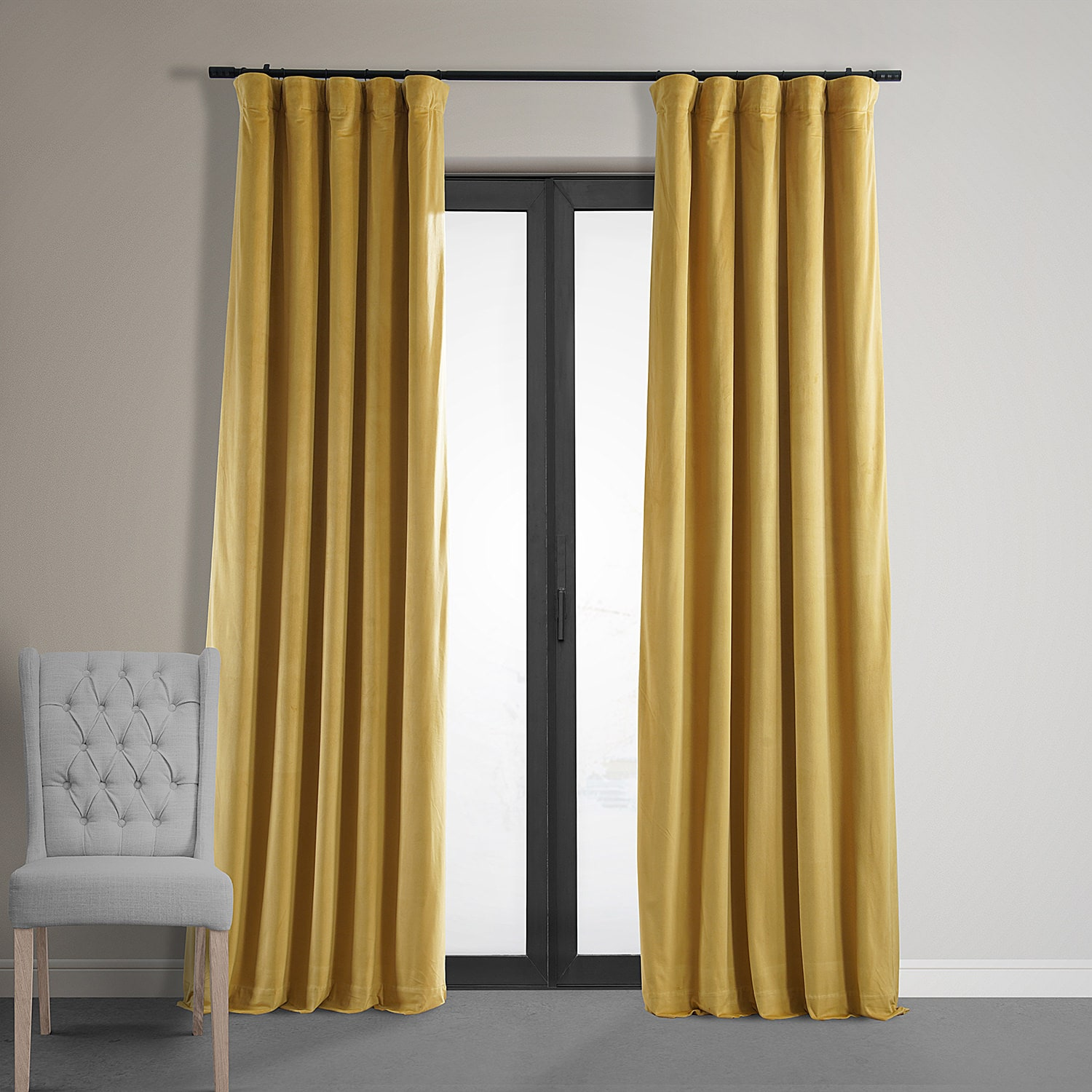Signature Fool's Gold Blackout Velvet Curtain