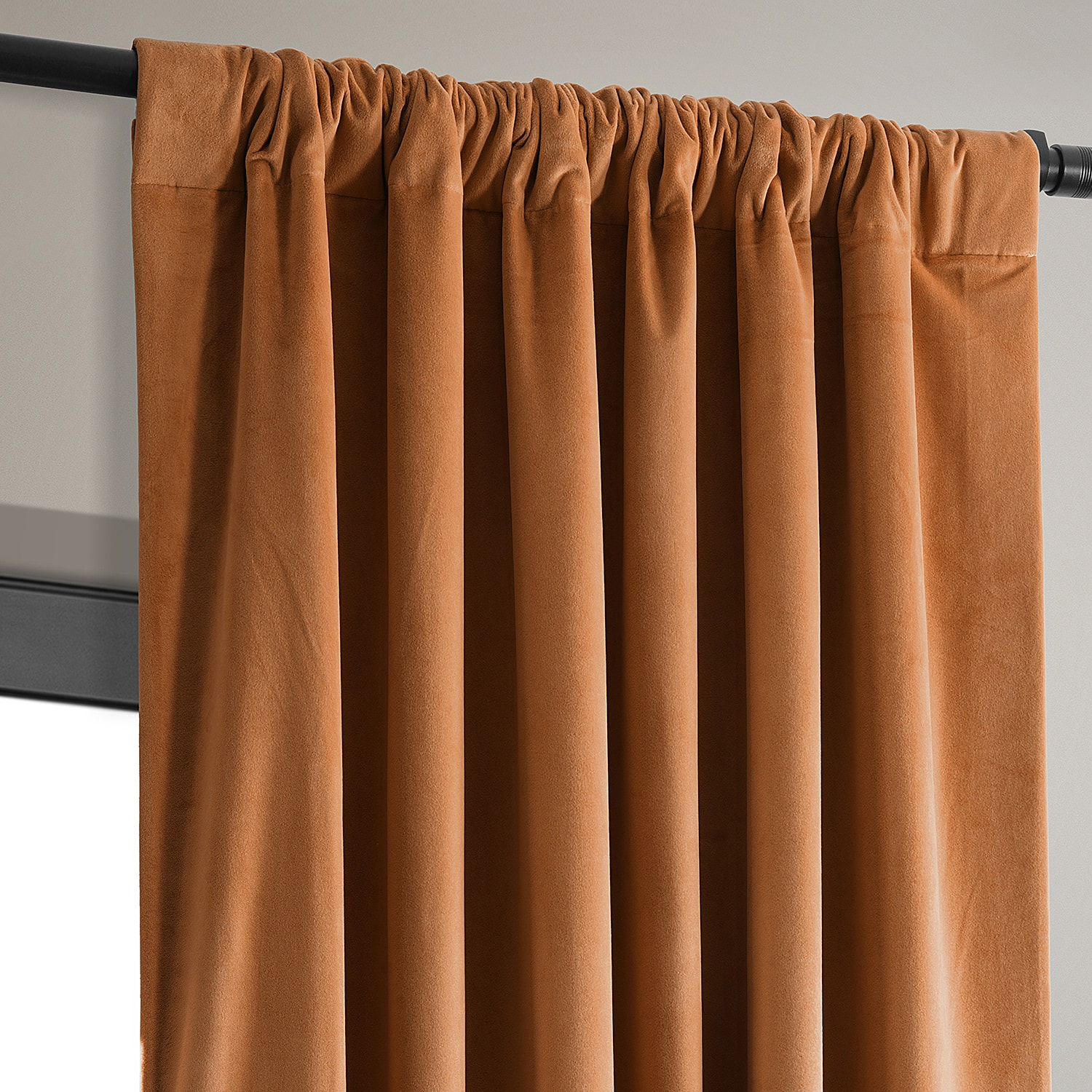 Signature Burnt Pumpkin Blackout Velvet Curtain