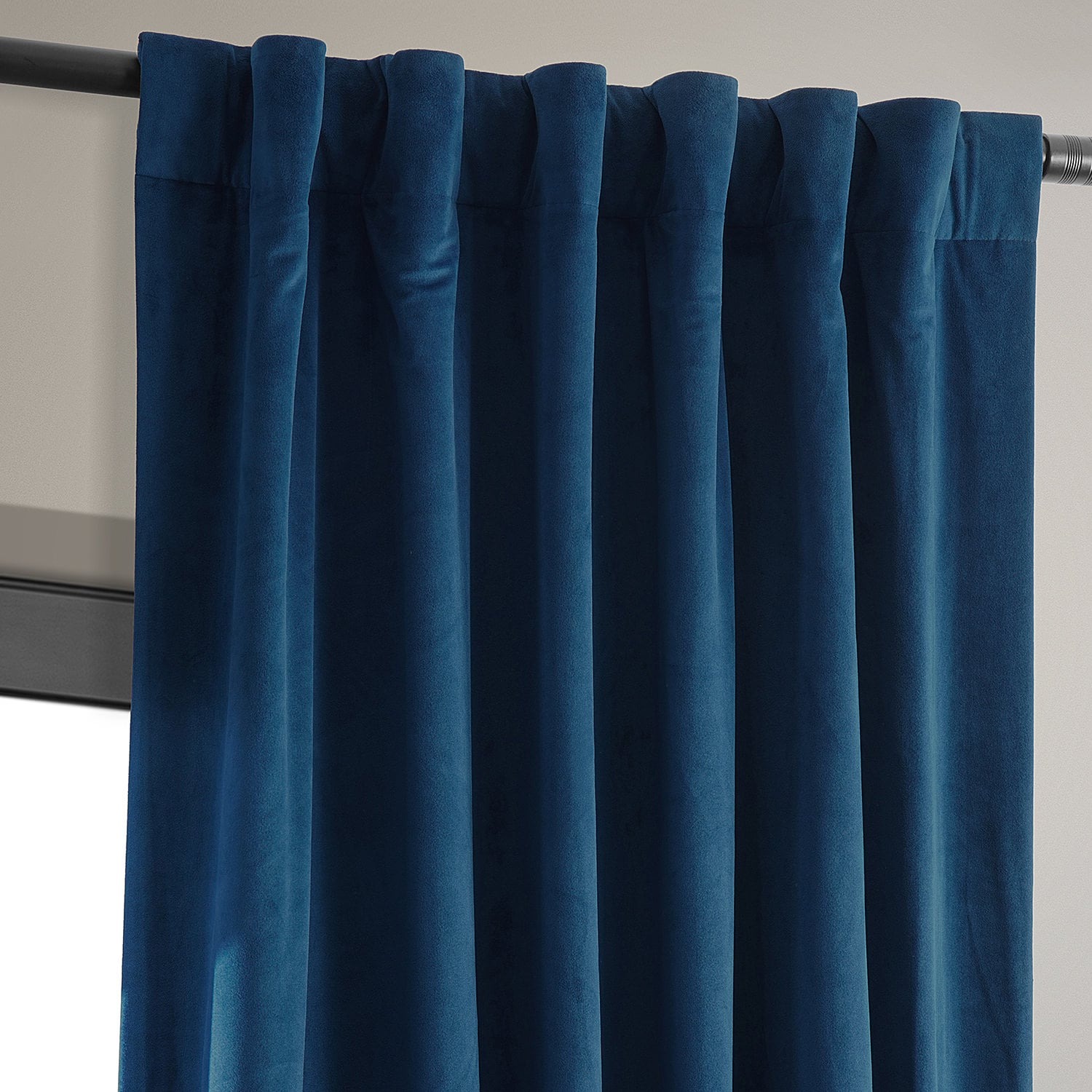 Signature Union Blue Blackout Velvet Curtain