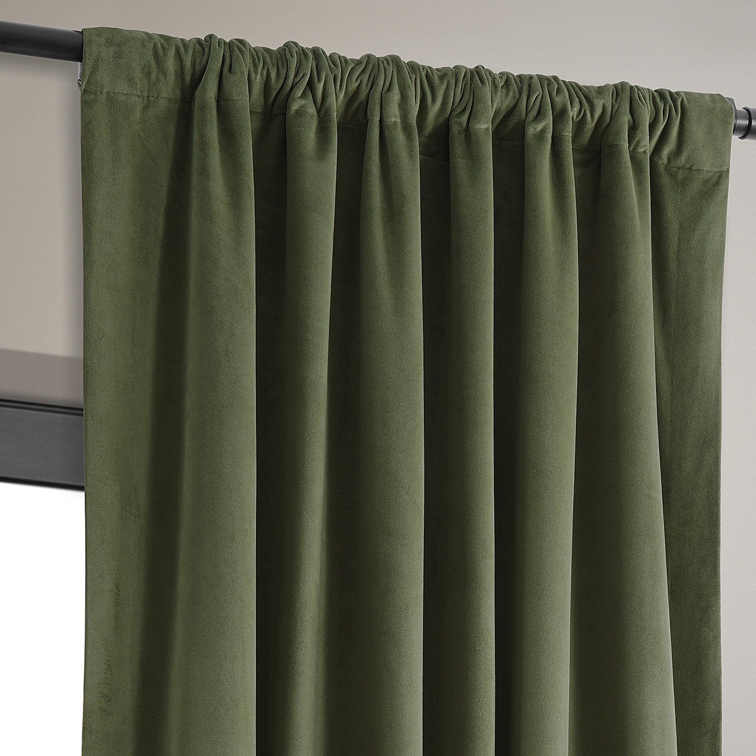 hunter green kitchen curtains signature green blackout velvet curtain amp drapes 4384