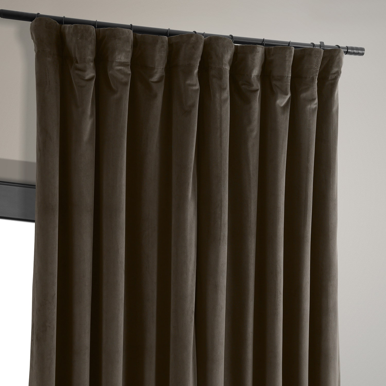 Signature Java Extra Wide Velvet Blackout Pole Pocket Curtain
