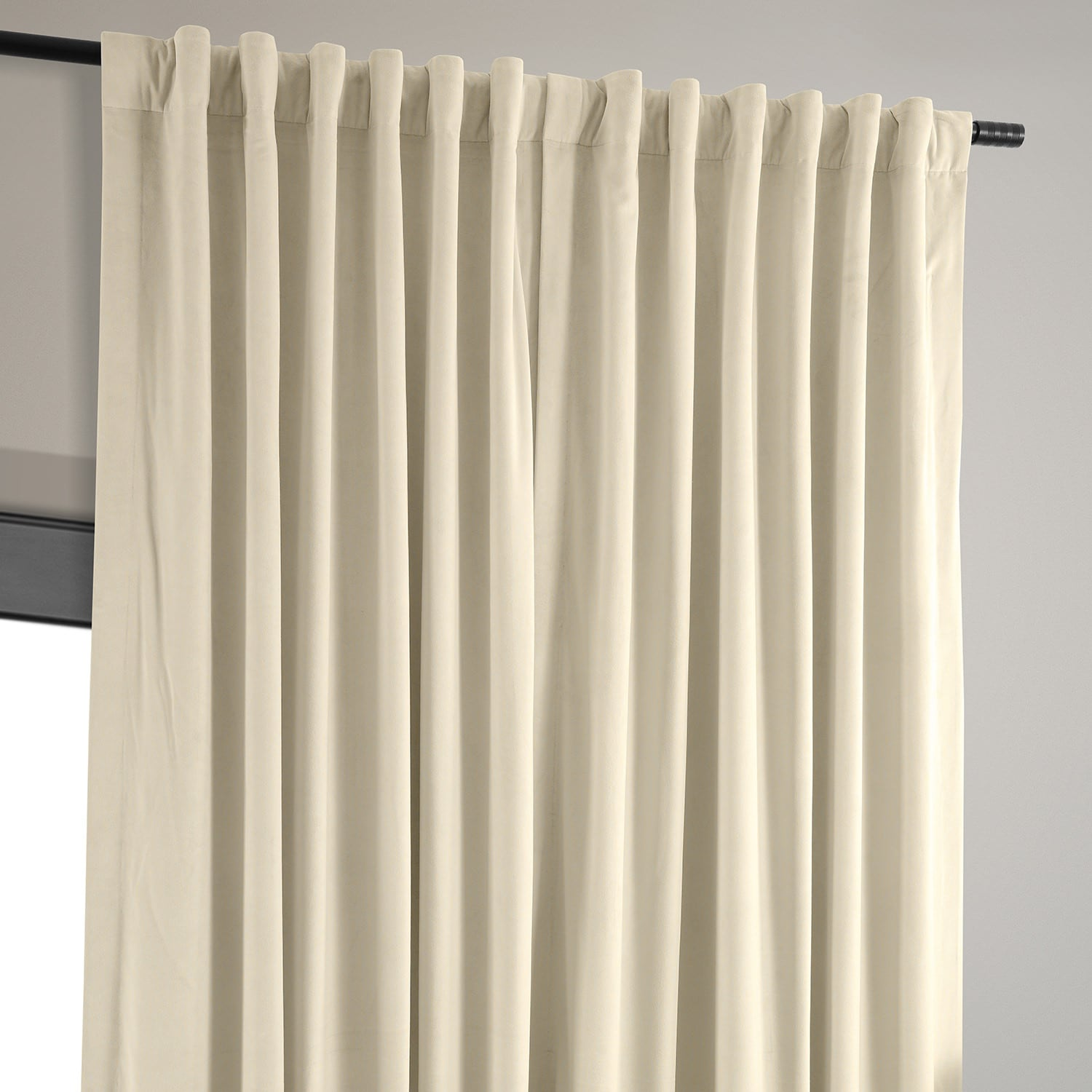 Velvet Blackout Drapes With Pole Pocket Extra Wide Ivory